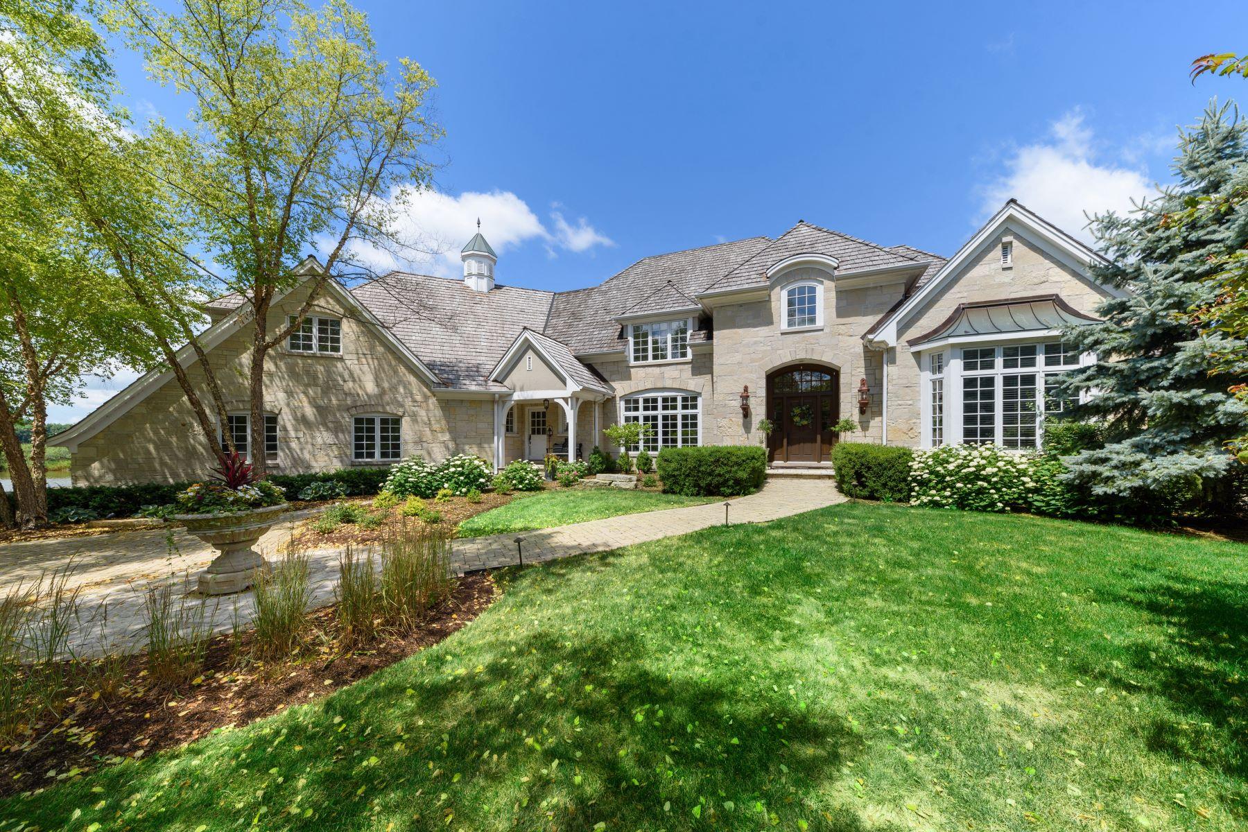 Single Family Homes para Venda às Private Retreat 35 Riderwood Road, North Barrington, Illinois 60010 Estados Unidos