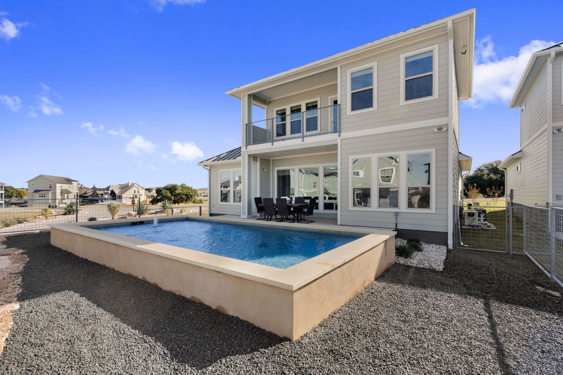 Single Family Homes for Sale at Stylish new construction in Clearwater Harbor at Lake LBJ 204 Archview Lane Kingsland, Texas 78639 United States