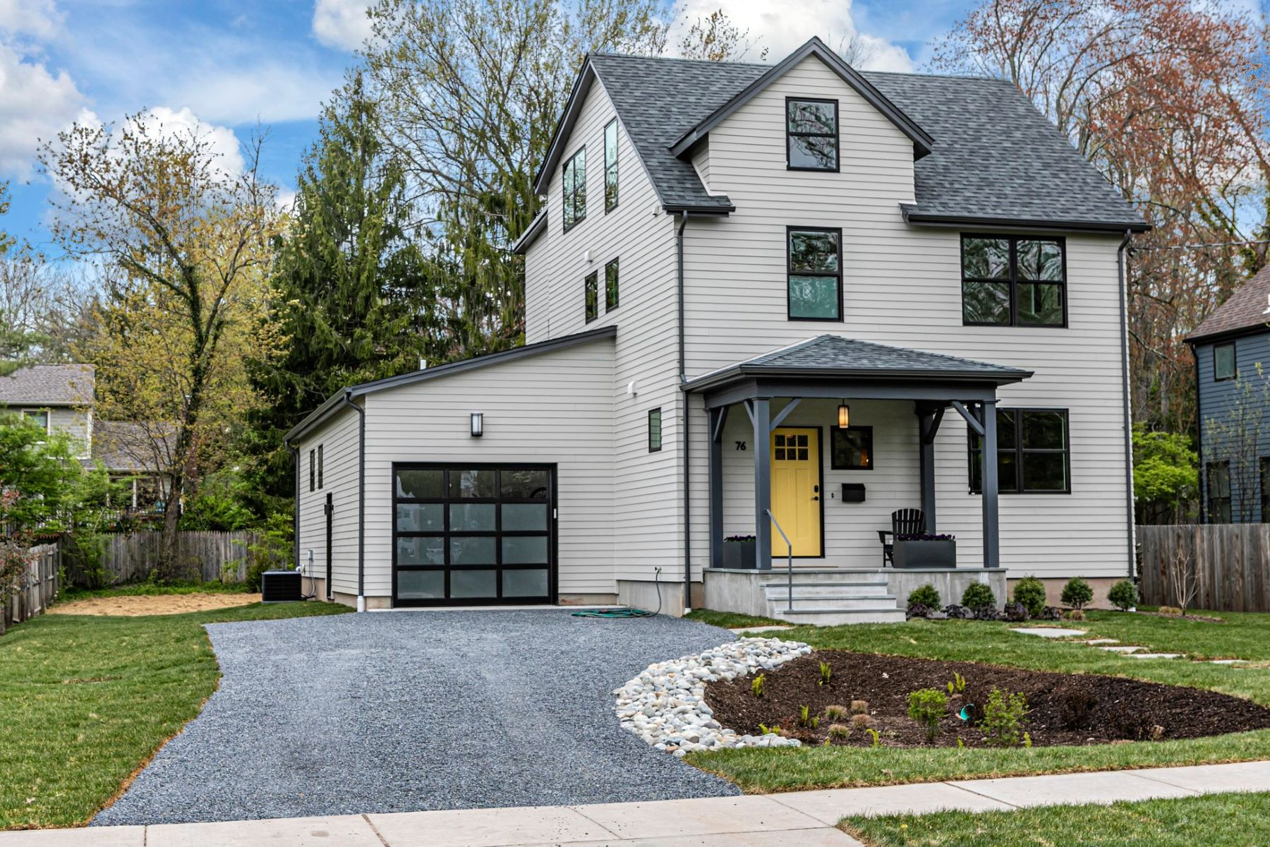 Single Family Homes for Sale at Sunny & Stylish New Home Is As Green As It Gets 76 Valley Road, Princeton, New Jersey 08540 United States