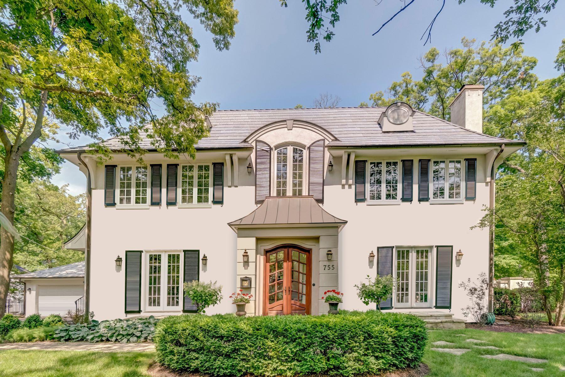 Single Family Homes por un Venta en Elegant Classic Home 755 Sheridan Road Glencoe, Illinois 60022 Estados Unidos