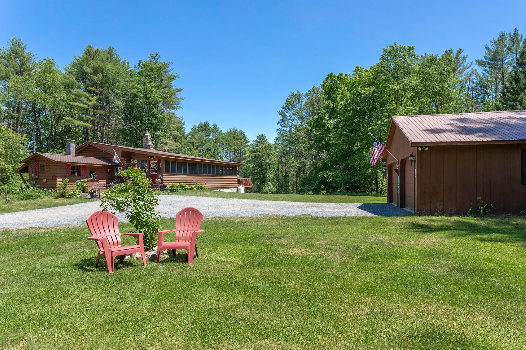 Property for Sale at Adirondack Log Home Getaway 1418 Friends Lake Road Chestertown, New York 12817 United States