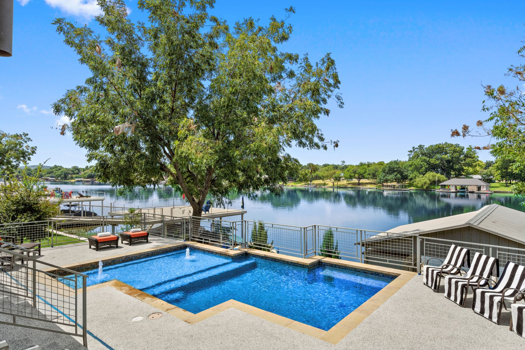 Single Family Homes for Sale at Stylish Custom Built Lake House 206 Hannahs Way Burnet, Texas 78611 United States