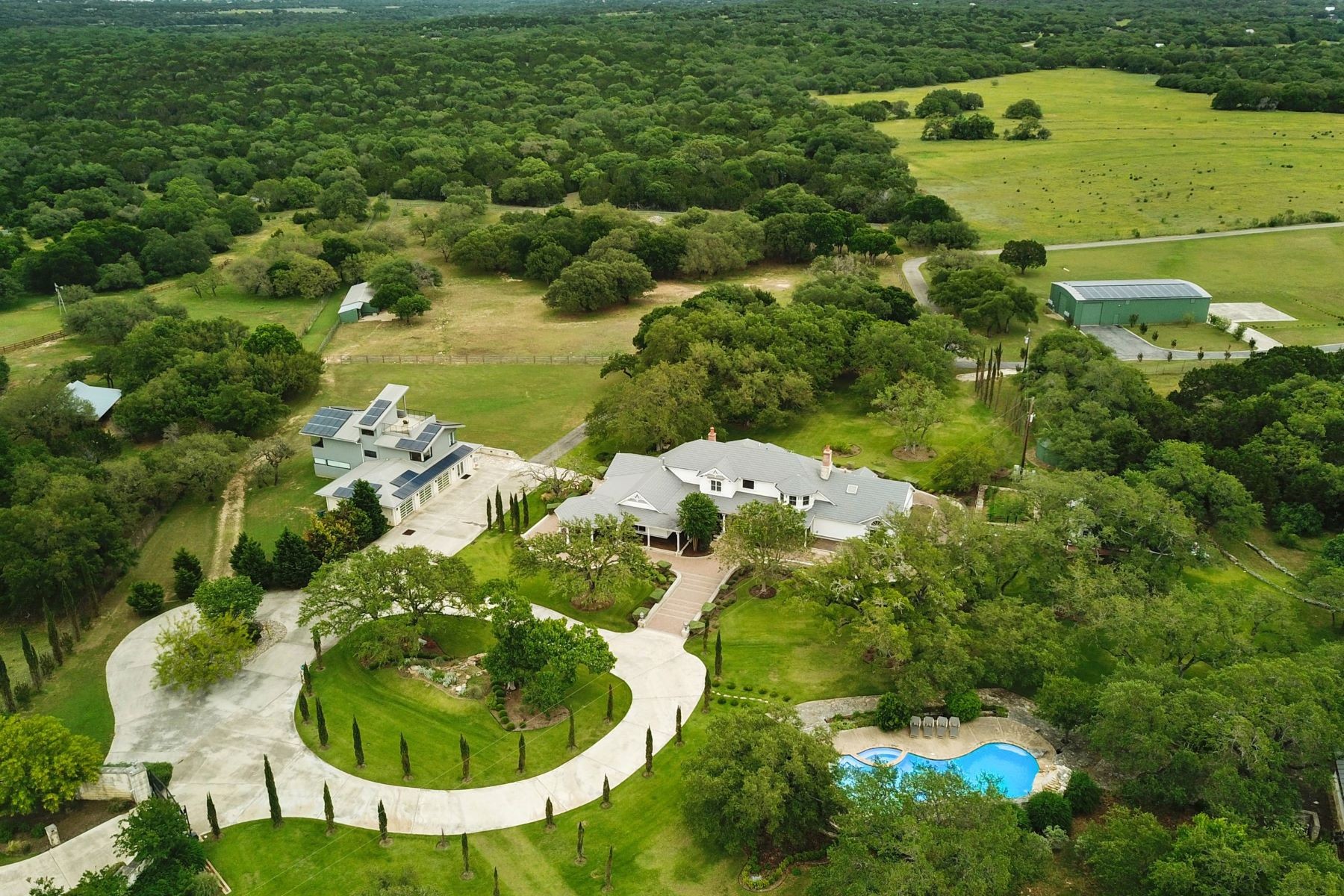 Single Family Homes for Sale at Modern Farmhouse with Executive Retreat 690 Autumn Lane Dripping Springs, Texas 78620 United States