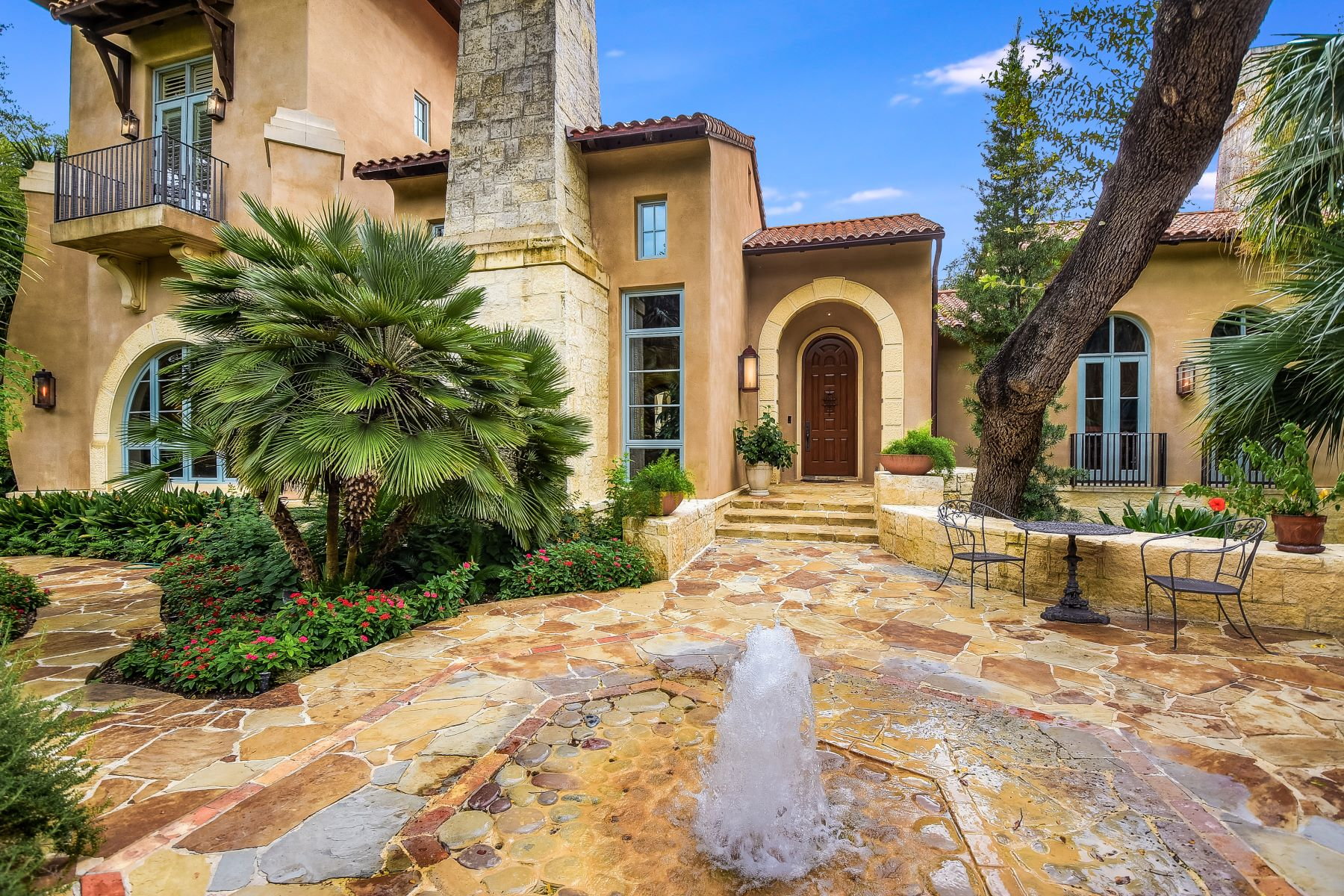 Single Family Homes for Active at Italian Style Estate With Tropical Landscape 734 College Boulevard San Antonio, Texas 78209 United States