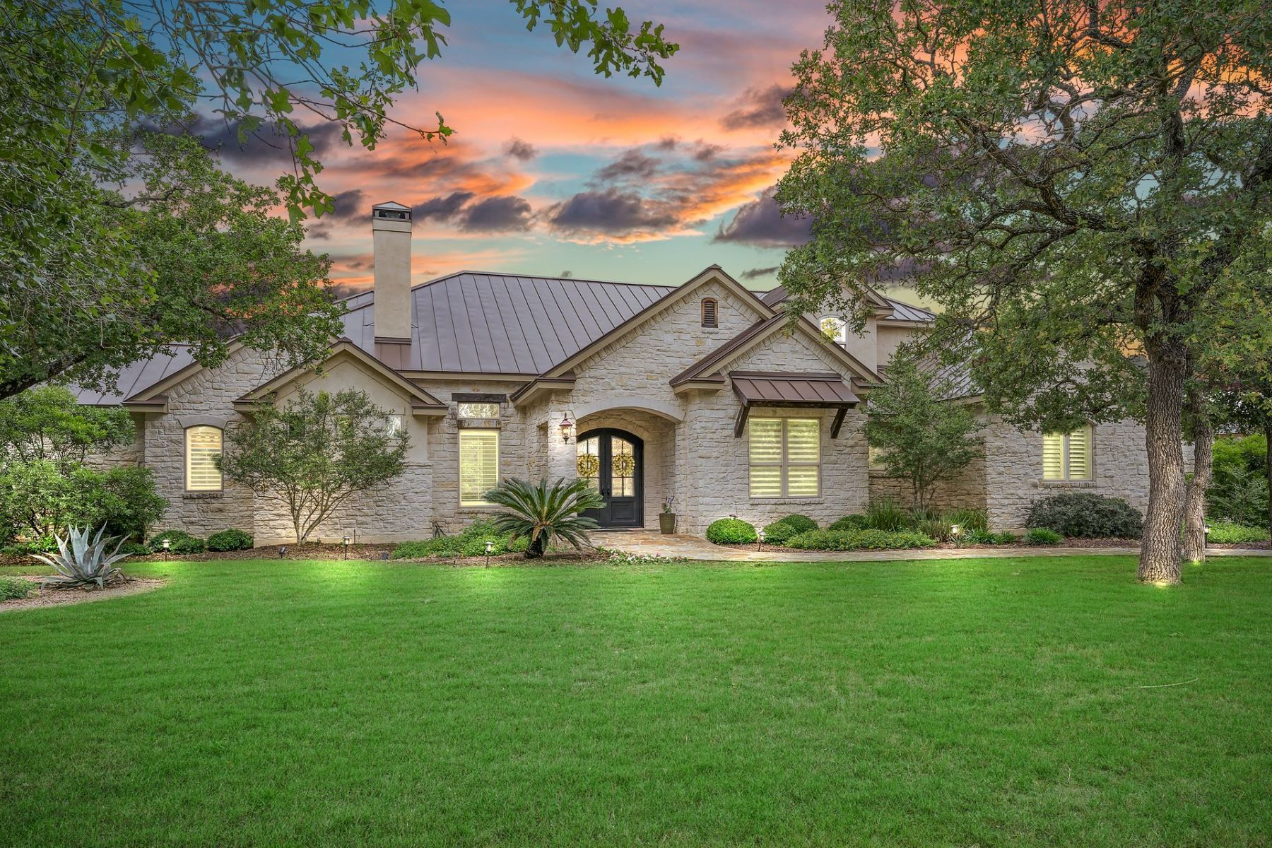 Single Family Homes for Sale at Exquisite Custom Home 15 Ranch Brook Road Fair Oaks Ranch, Texas 78015 United States