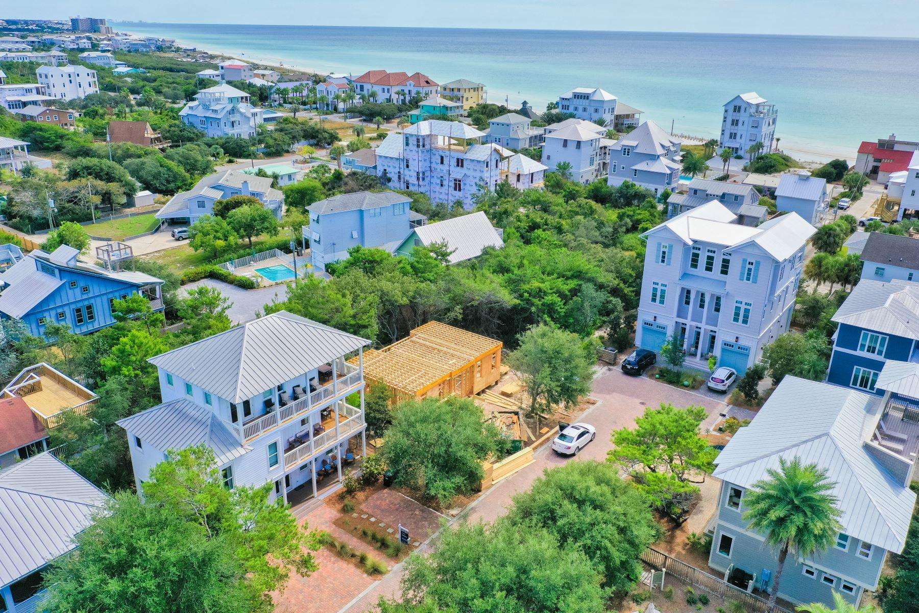 Single Family Homes for Sale at Luxurious Gulf View Home Close to Rosemary with Low Dues 25 Wild Dunes Way Inlet Beach, Florida 32461 United States
