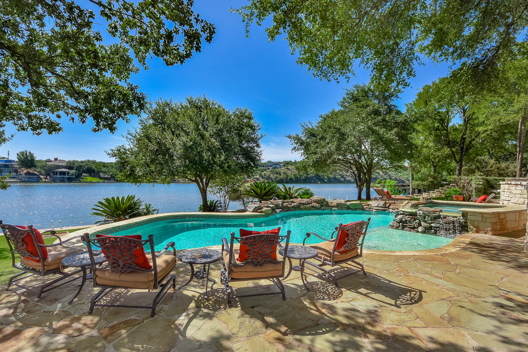 Single Family Home for Sale at Lake LBJ Family Compound of 3 Lake Houses on 722' of Waterfront 814 Sunrise Ln Sunrise Beach, Texas 78643 United States