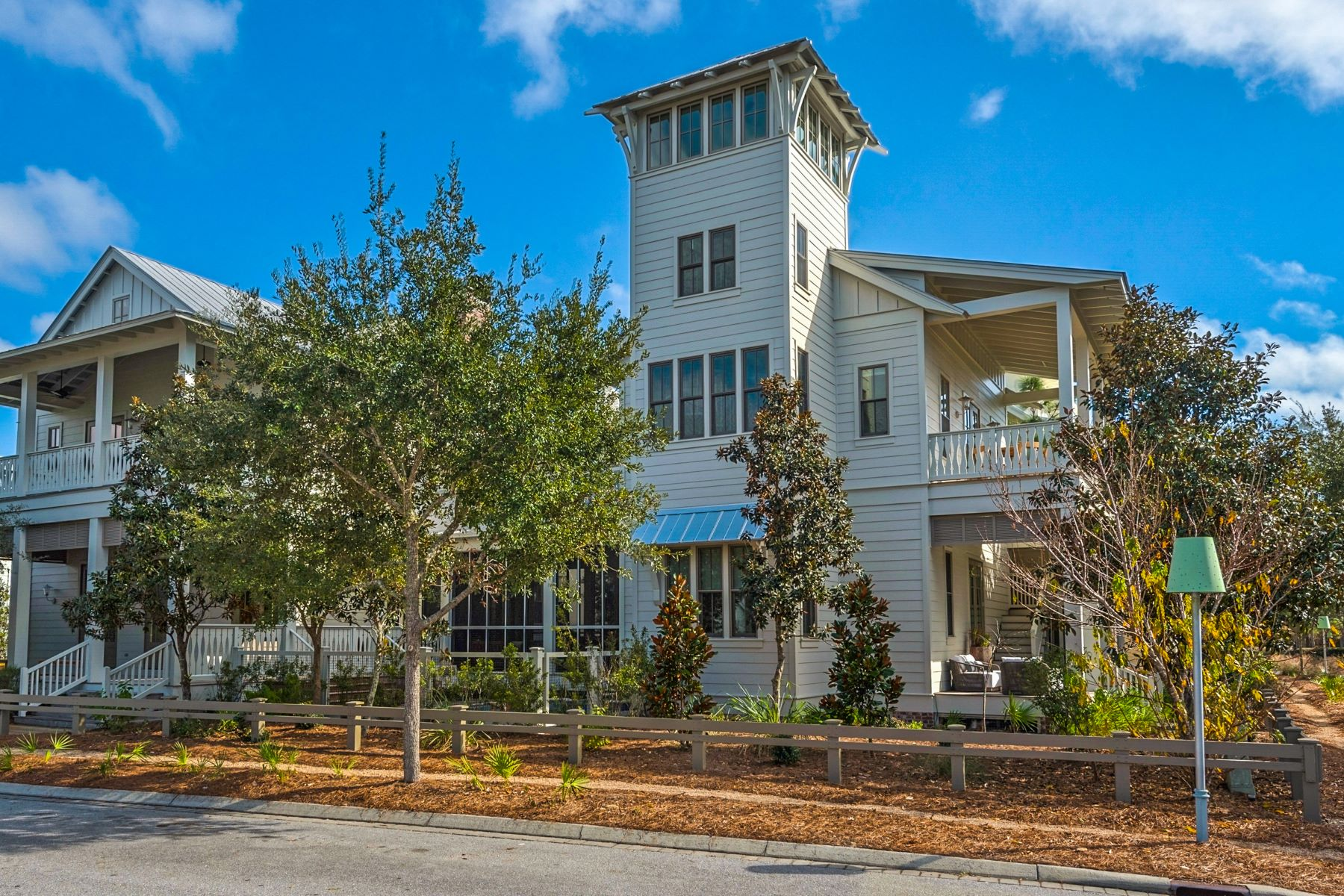 Single Family Homes for Sale at WaterColor Home with Carriage House and Pool on Corner Lot 128 Wiregrass Way Santa Rosa Beach, Florida 32459 United States