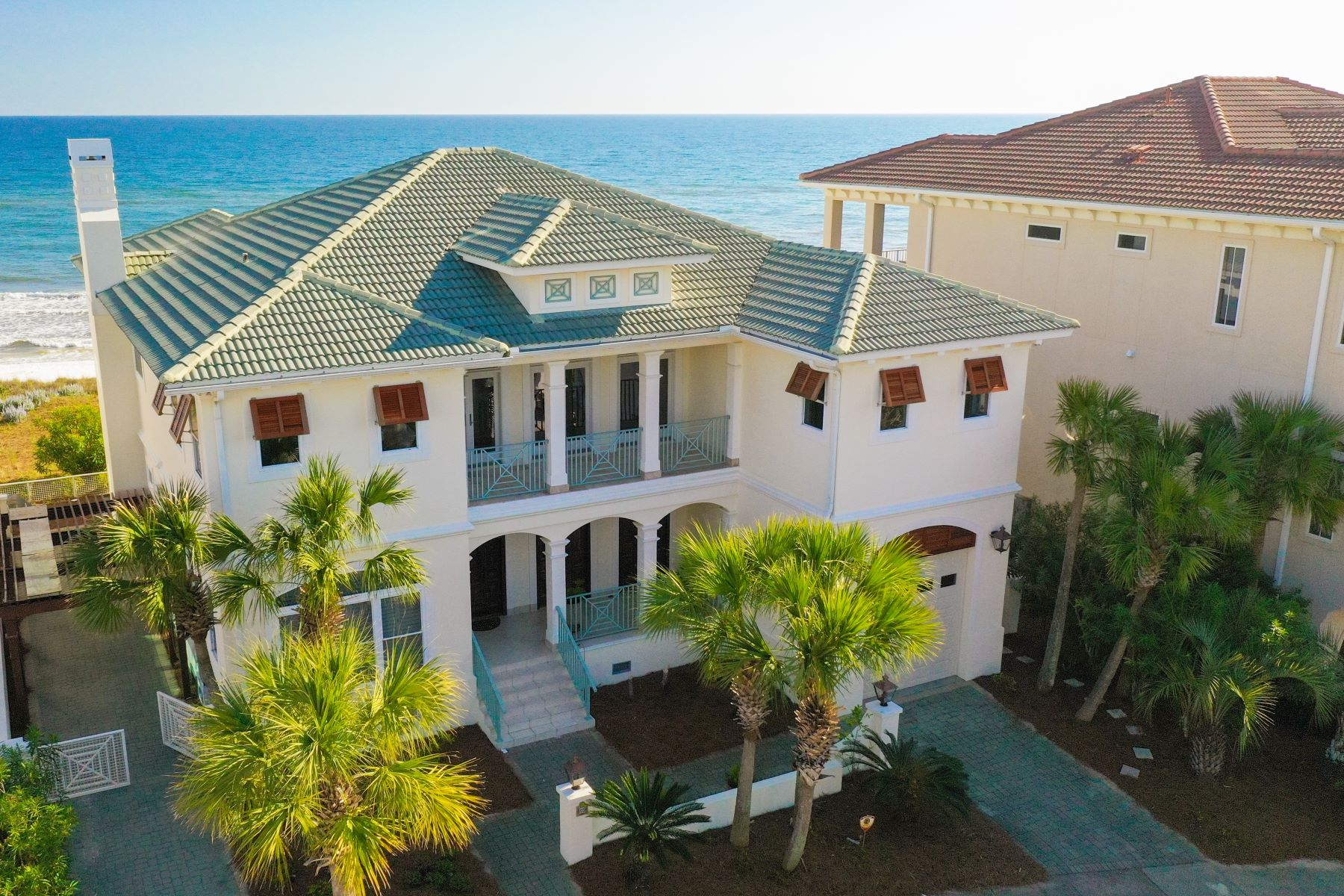Single Family Home for Sale at Elegant Gulf Front Retreat with Elevator and Inside Surround Sound 46 White Cliffs Crest Santa Rosa Beach, Florida 32459 United States