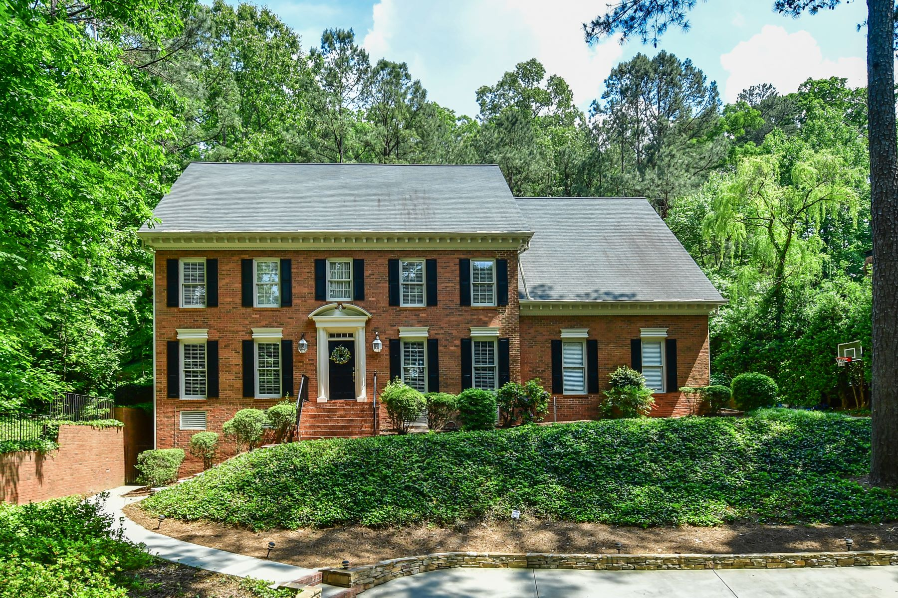 Single Family Home for Sale at Elegant Brick Traditional On One Acre Lot 390 River Valley Road Atlanta, Georgia 30328 United States