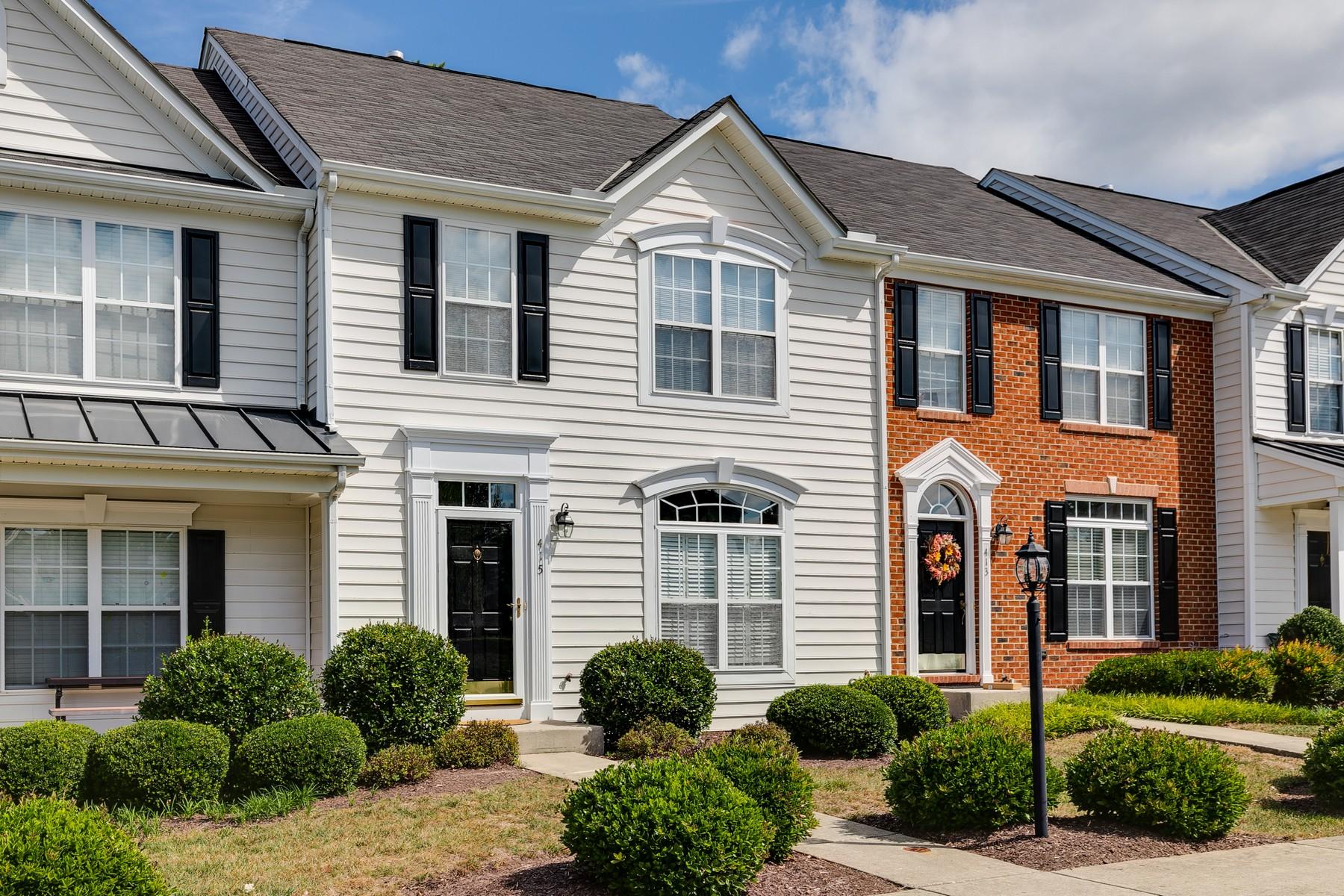 townhouses por un Venta en Townes At Hunton Park 415 Kingscote Lane 415 Henrico, Virginia 23059 Estados Unidos