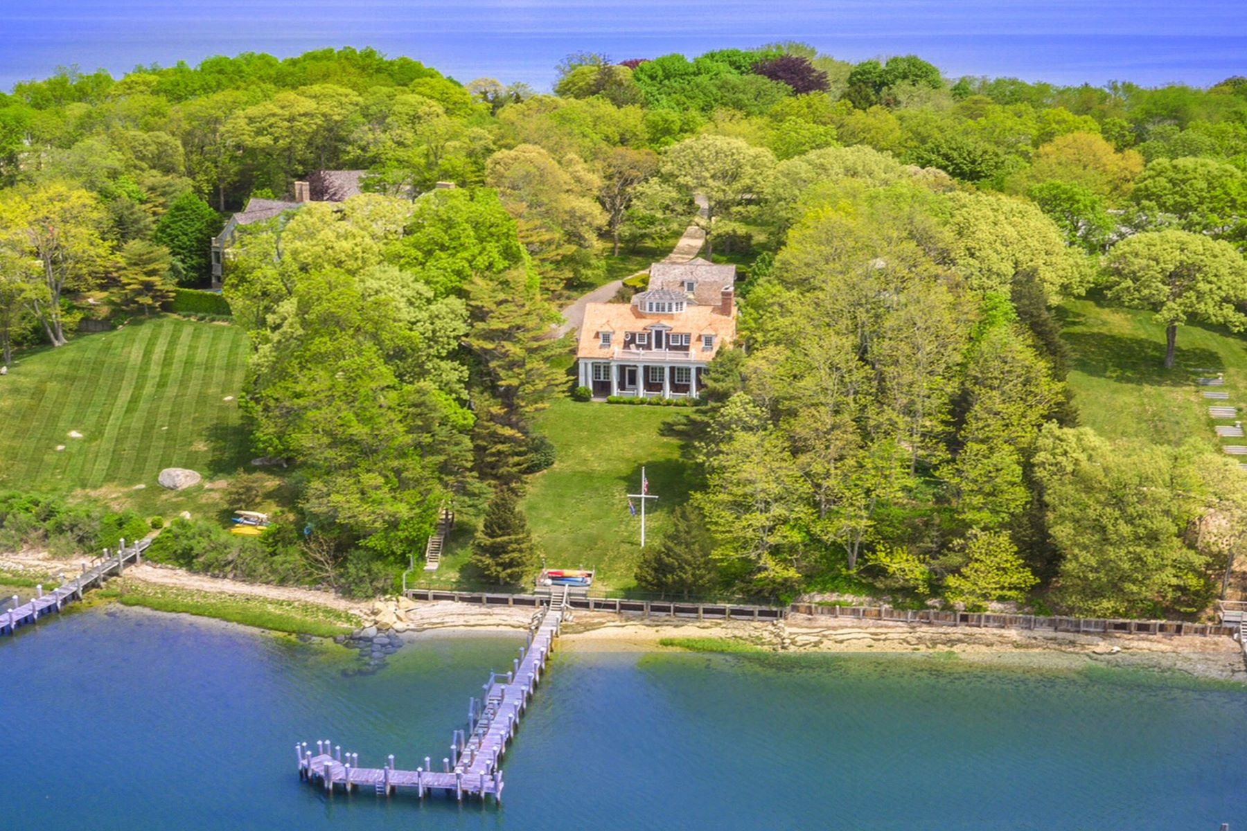 Single Family Homes for Sale at Shelter Island 66 Ram Island Dr Shelter Island, New York 11964 United States