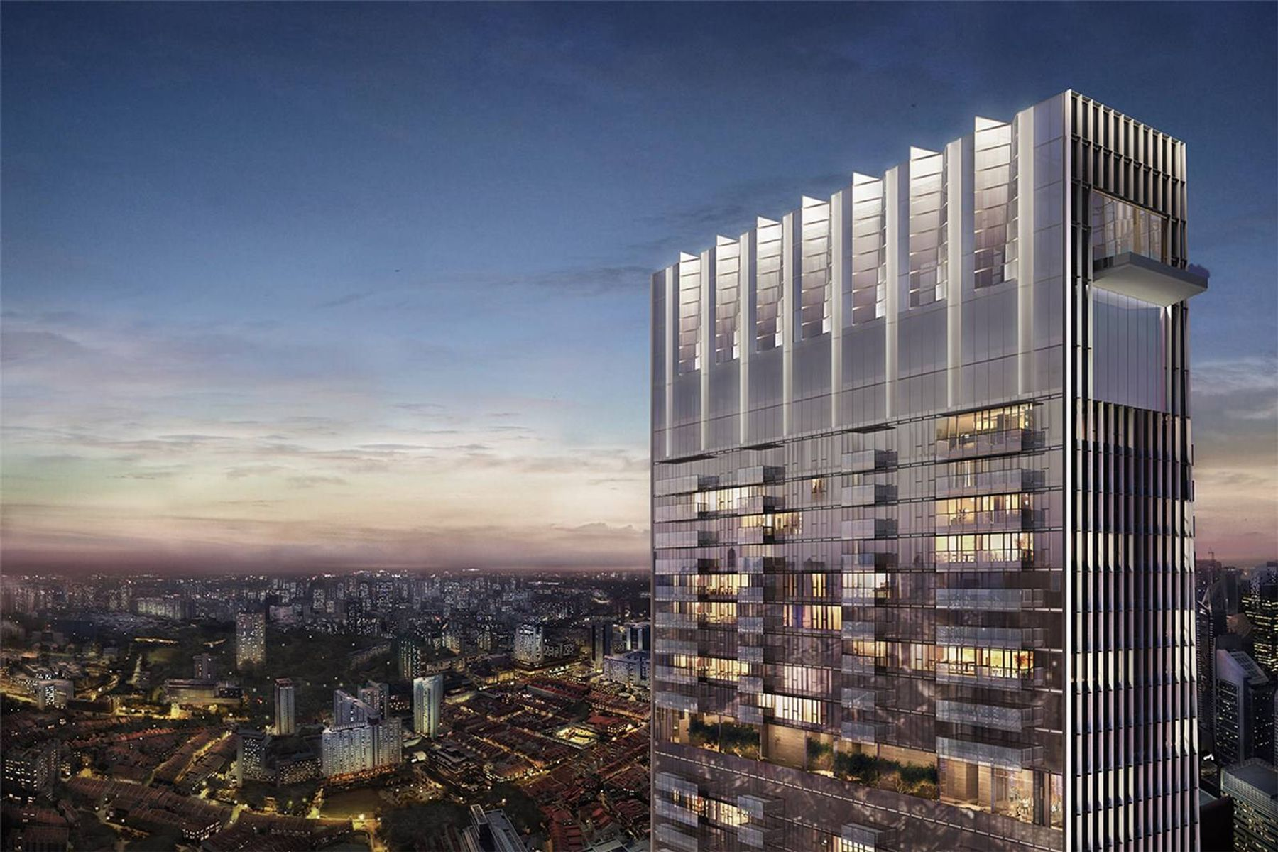 Condominium for Active at The Wallich Residence - Super Penthouse 3 Wallich Street Singapore, Cities In Singapore 078882 Singapore