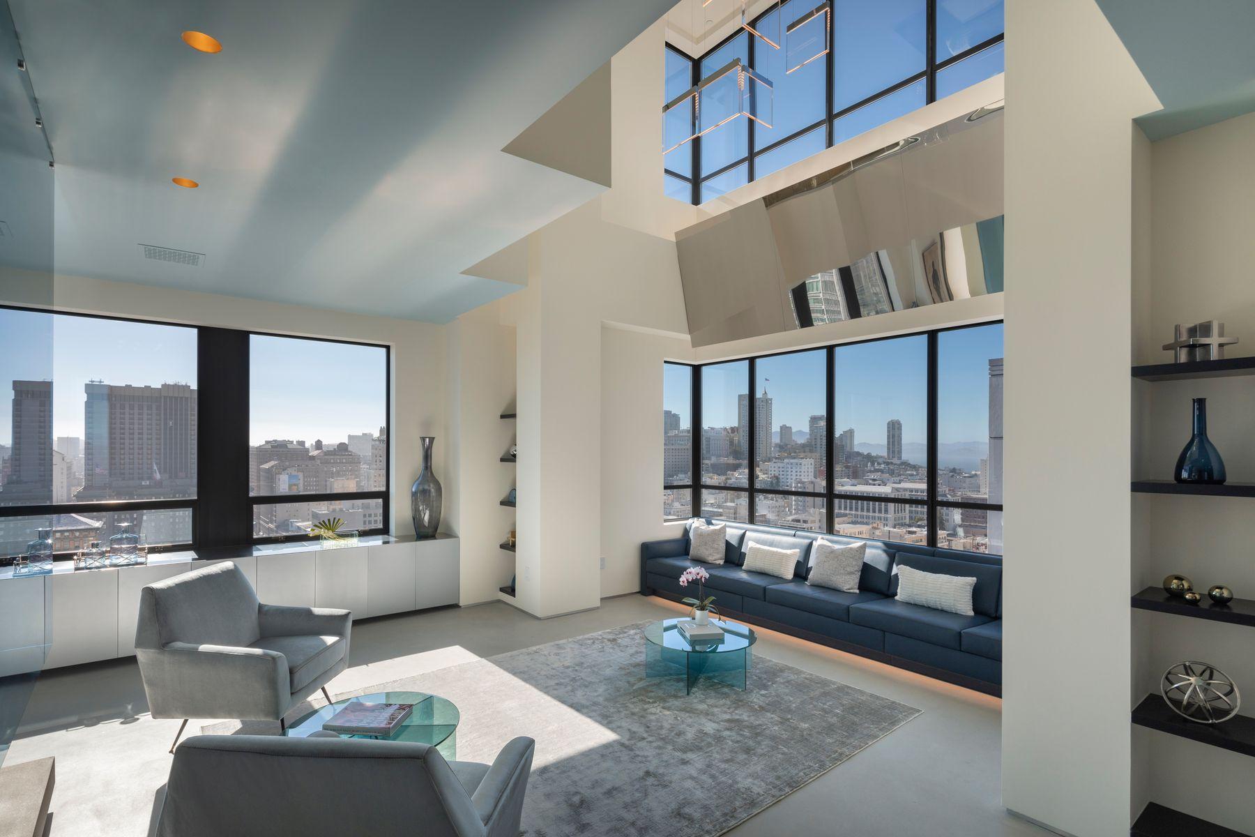 Condominiums por un Venta en Italian Modern Duplex Penthouse 690 Market St Penthouse 2401 San Francisco, California 94104 Estados Unidos