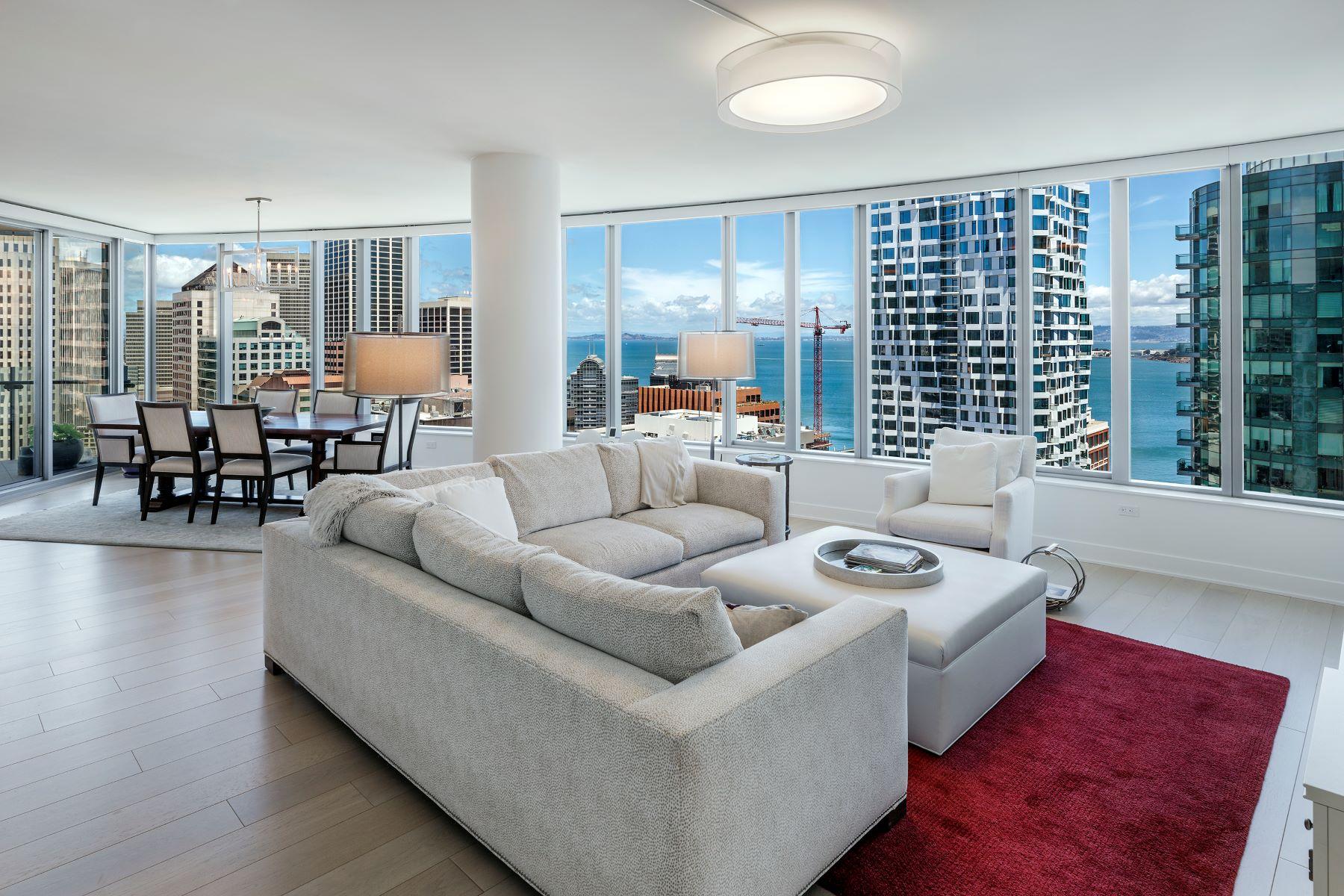 Condominiums for Active at Premier 3BD + Office NE Condo at LUMINA 201 Folsom St, Apt 32B San Francisco, California 94105 United States