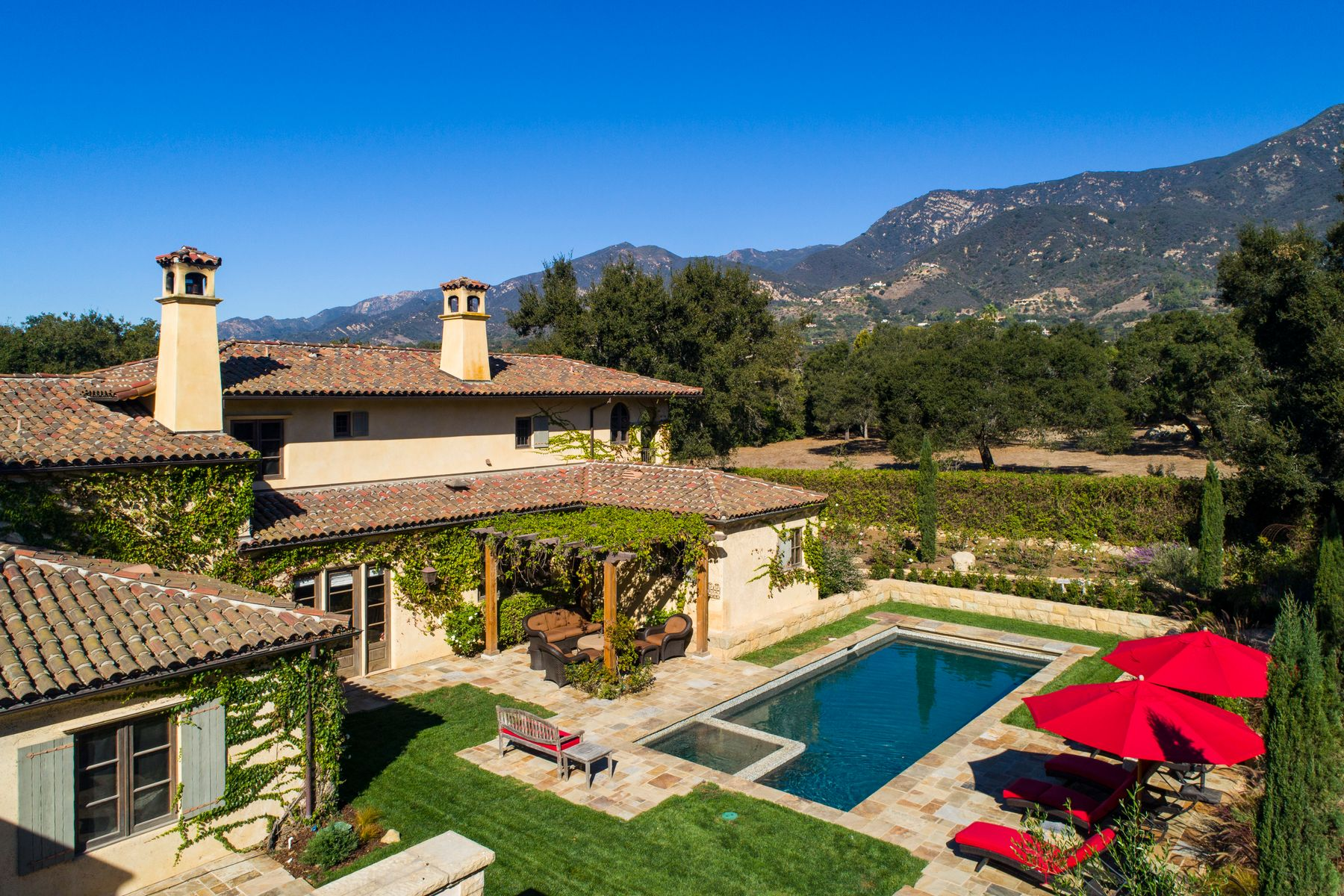 Single Family Homes for Sale at Old World Montecito Mediterranean 2222 East Valley Road Montecito, California 93108 United States