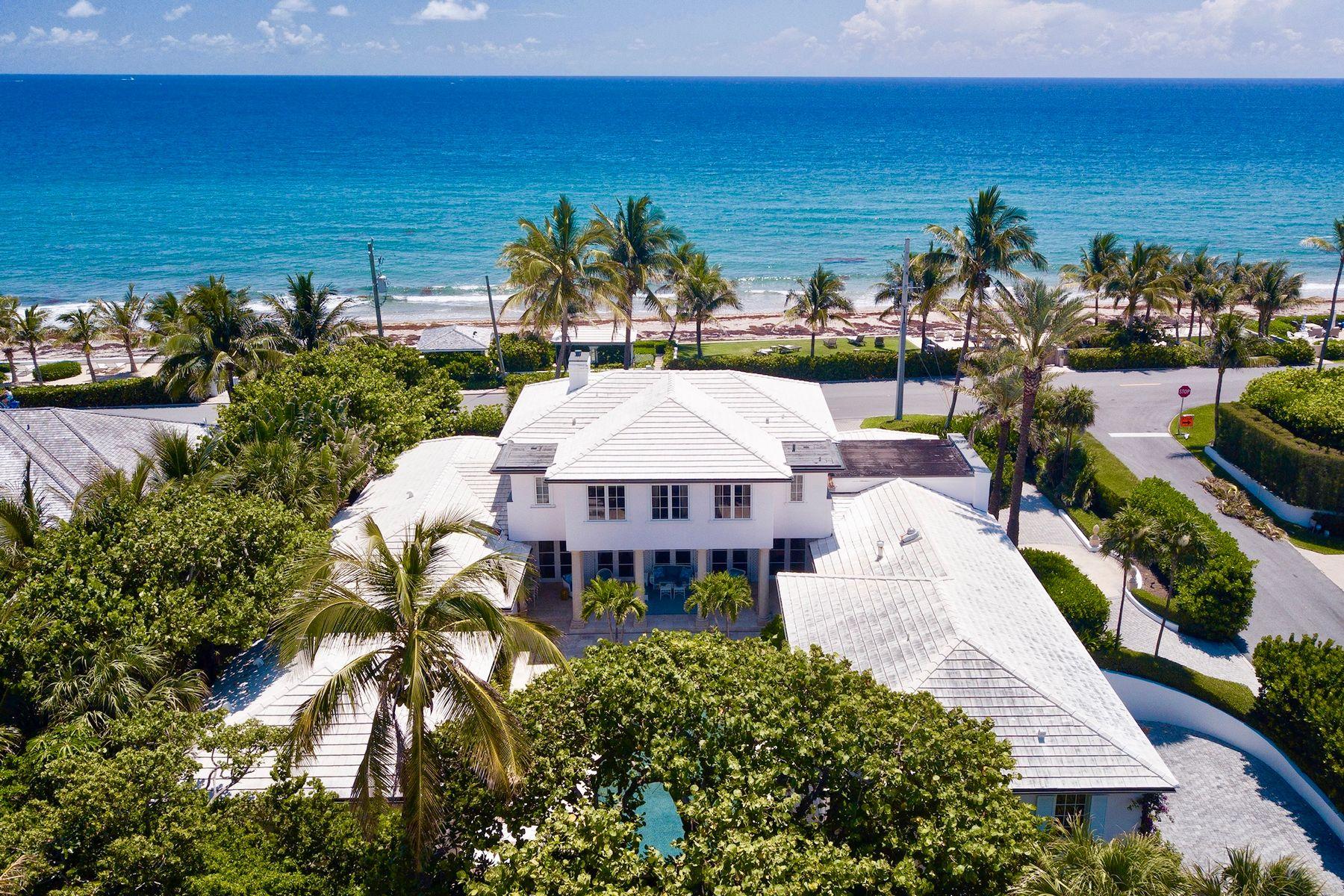 Single Family Homes für Verkauf beim Classic Beach House 101 Nightingale Trl, Palm Beach, Florida 33480 Vereinigte Staaten