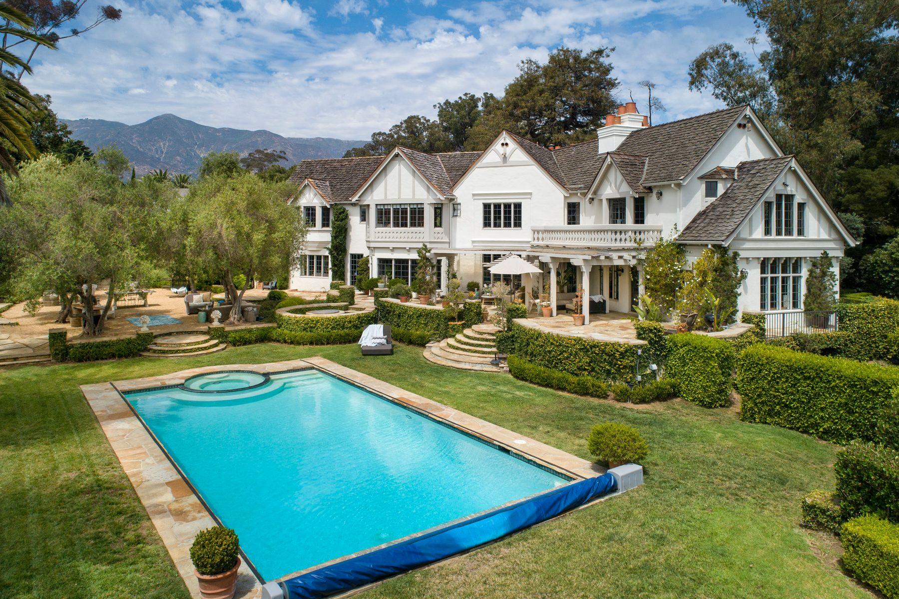 Single Family Homes for Sale at Landmark Character Montecito Estate 165 Middle Road Santa Barbara, California 93108 United States