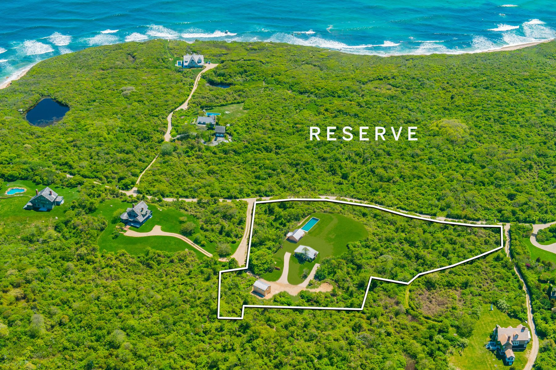 Single Family Homes for Active at TOTAL PRIVACY AND PANORAMIC OCEAN VIEWS 139 Deforest Road Montauk, New York 11954 United States