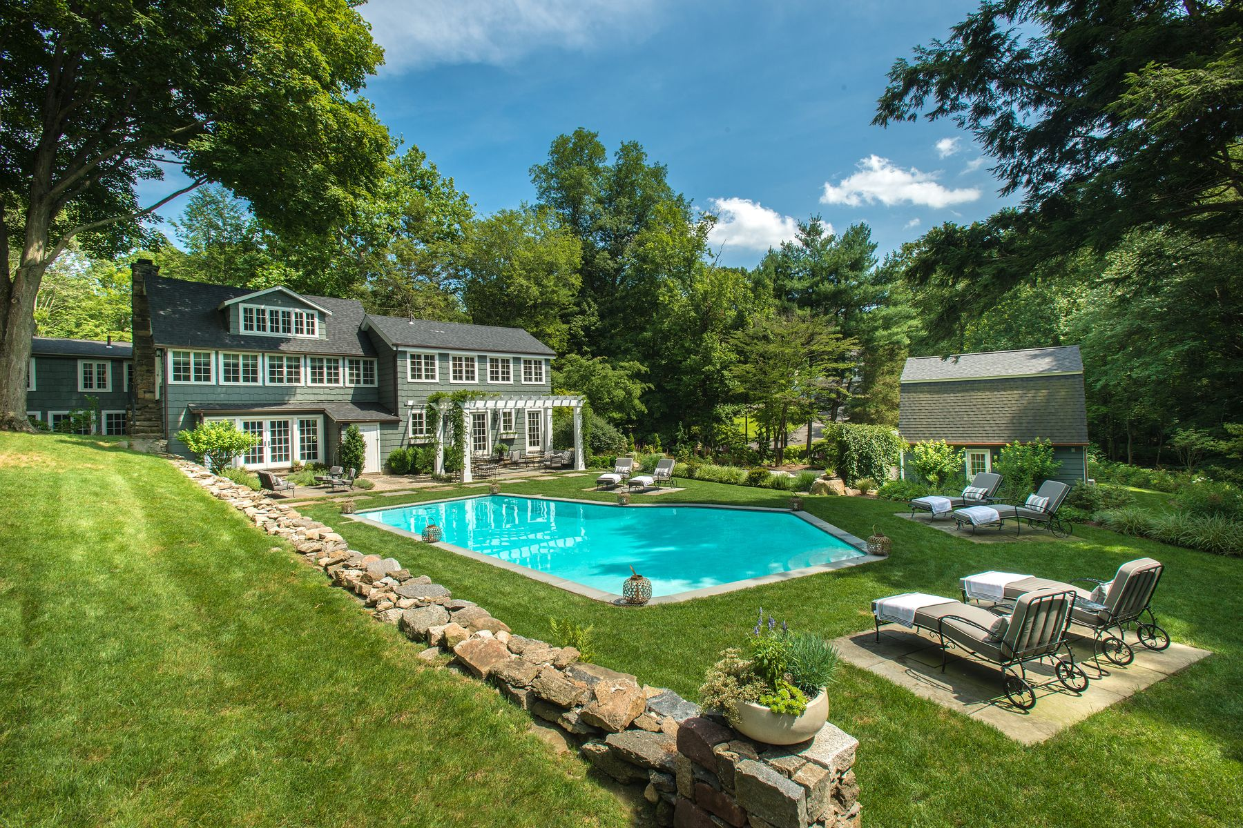 Single Family Homes for Sale at Stunning Historic Renovation! 66 Cat Rock Road Cos Cob, Connecticut 06807 United States