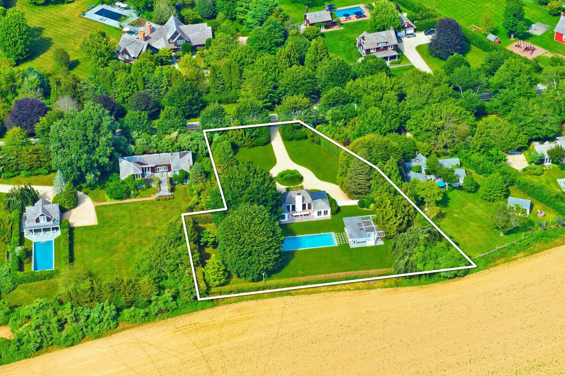 Single Family Homes for Sale at Overlooking Reserve In Sagaponack 627 Sagaponack Road Sagaponack, New York 11962 United States