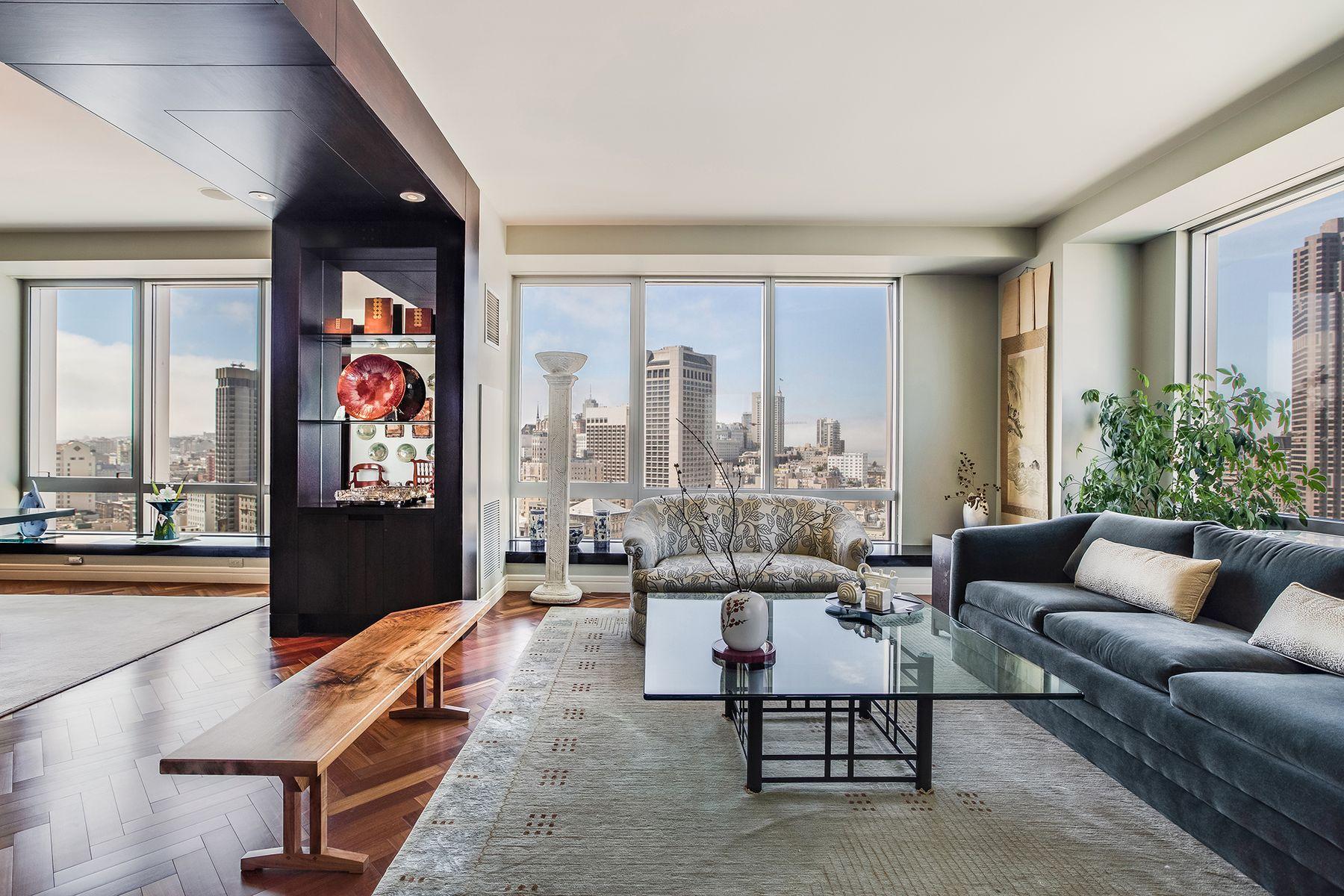 Condominiums por un Venta en Four Seasons Residence 31CD 765 Market St #31CD San Francisco, California 94103 Estados Unidos