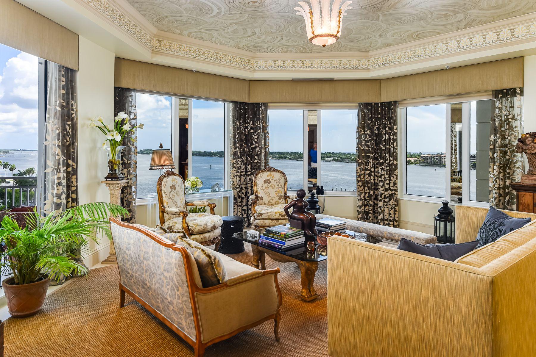Condominiums для того Продажа на One Watermark Place Unit 701 622 N Flagler Dr Apt 701 West Palm Beach, Флорида 33401 Соединенные Штаты