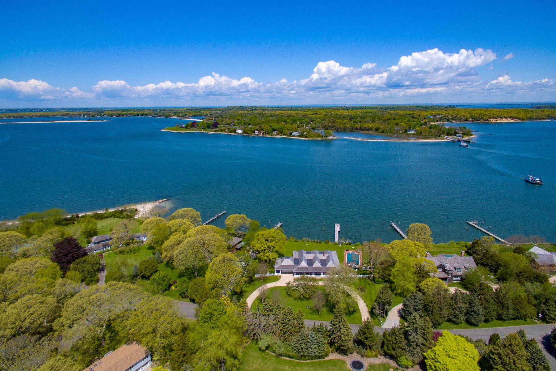 Single Family Home for Active at North Haven Bay Front With Dock 18 North Drive Sag Harbor, New York 11963 United States
