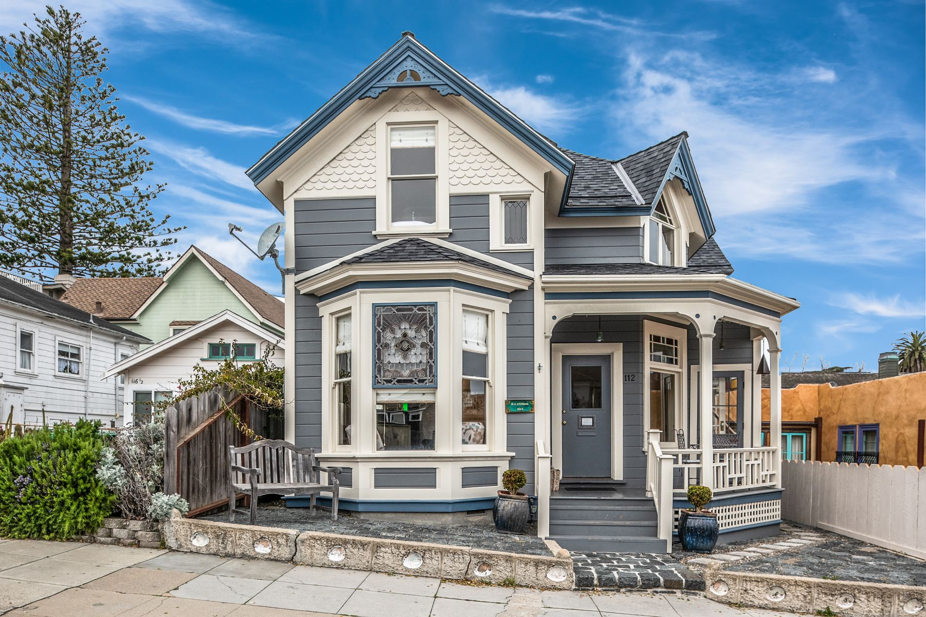 Single Family Homes for Sale at Pacific Grove Bay View Beach House 112 Forest Avenue Pacific Grove, California 93950 United States