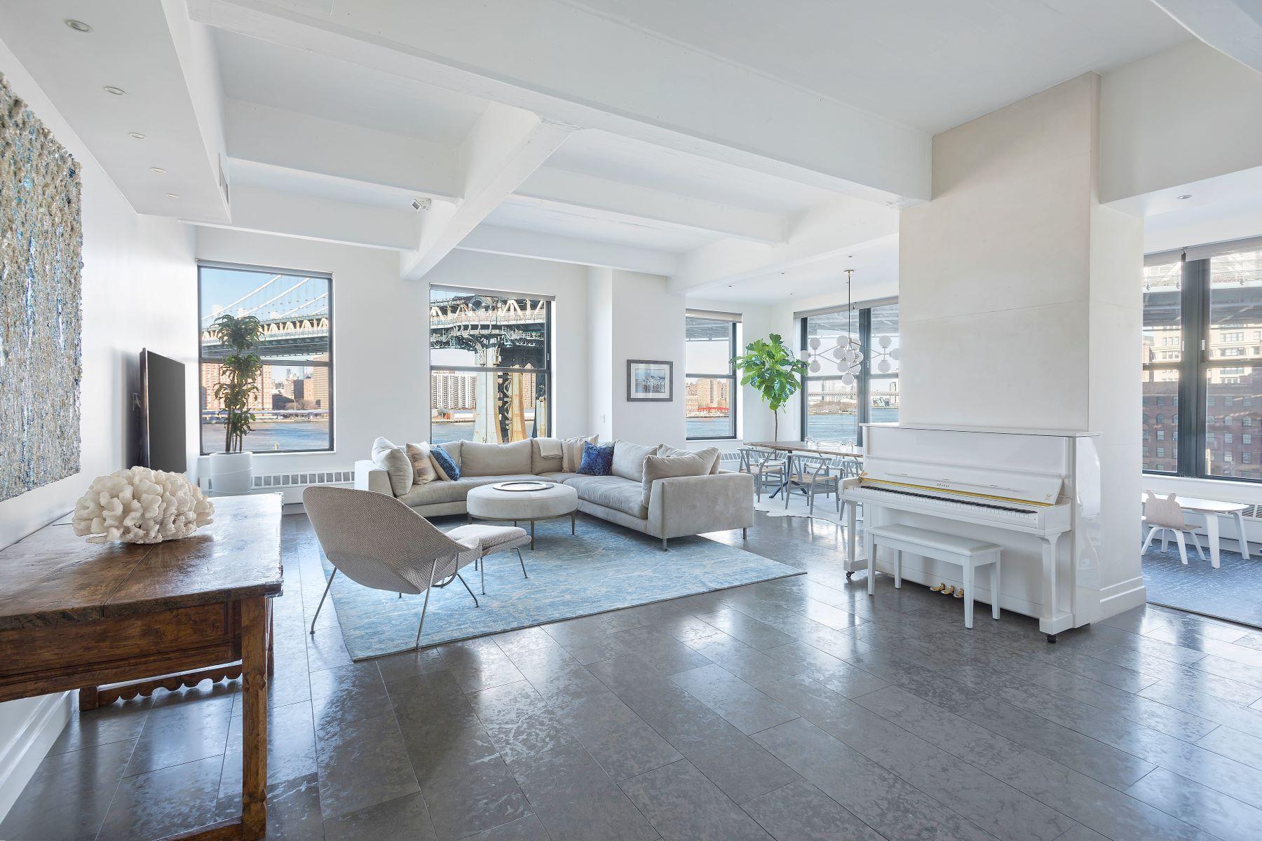 Condominiums 為 出售 在 Spacious, Renovated Waterfront Loft 1 Main Street, Apt 5D, Brooklyn, 纽约 11201 美國