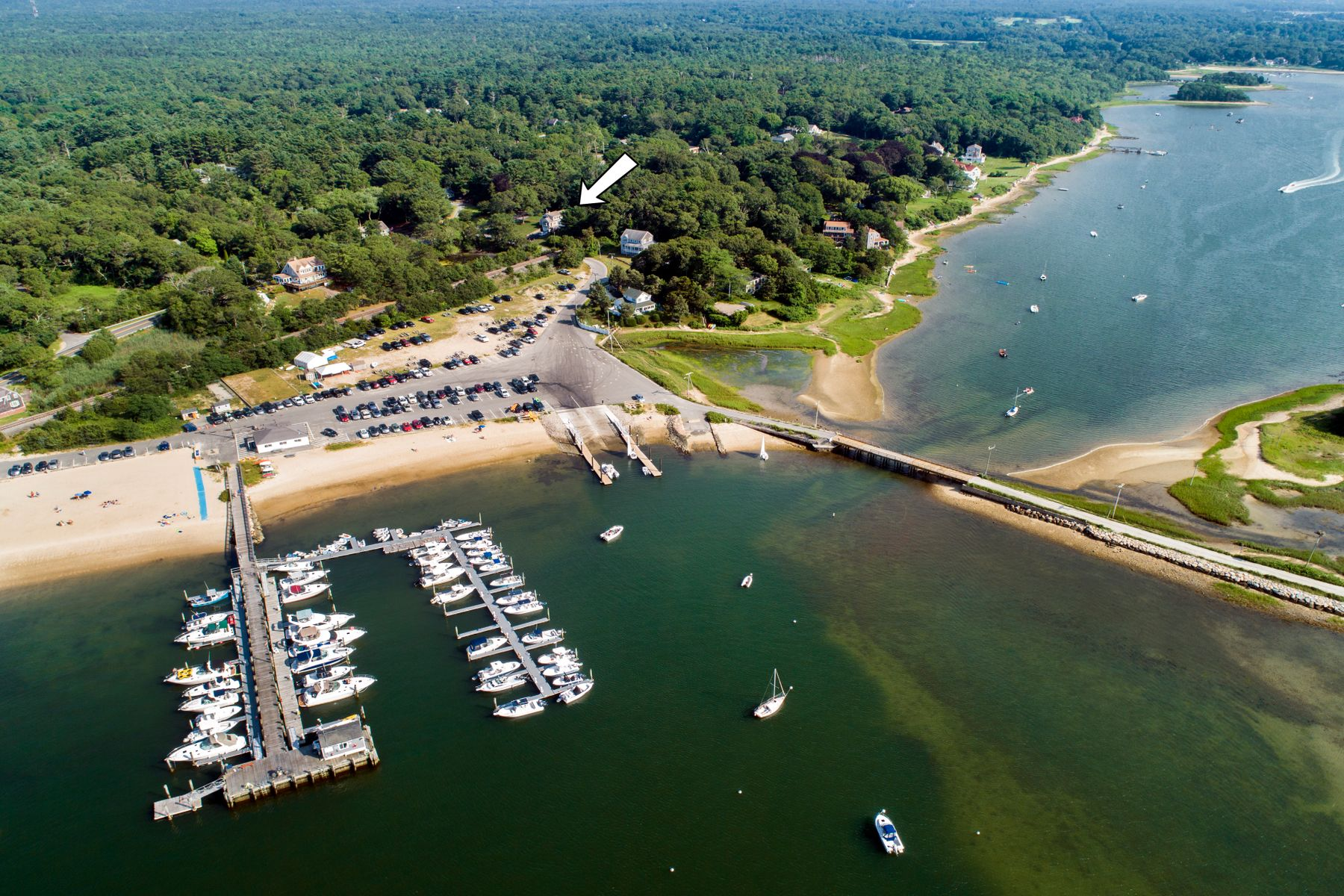 Single Family Homes for Sale at Cape with Beach Views 542 Shore Road Bourne, Massachusetts 02553 United States