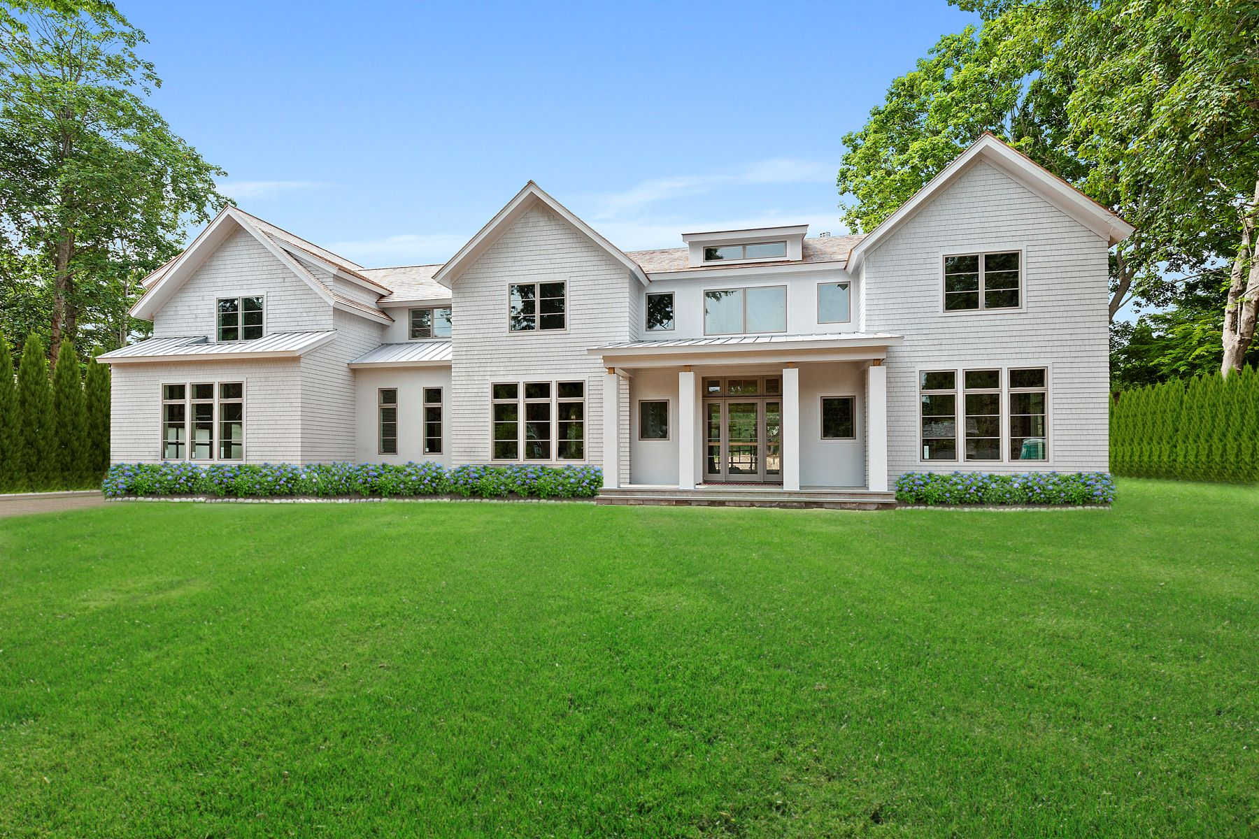 Single Family Homes for Sale at Trophy New Build with Tennis in Village 163 Church Lane Bridgehampton, New York 11932 United States