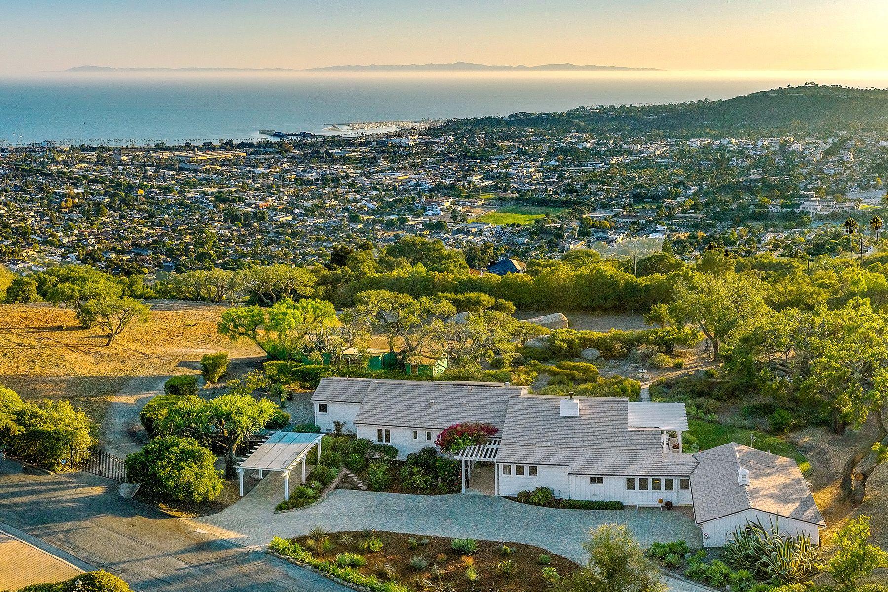Single Family Homes for Sale at Upper Riviera Ocean View Legacy Property 1215 High Ridge Lane Santa Barbara, California 93103 United States