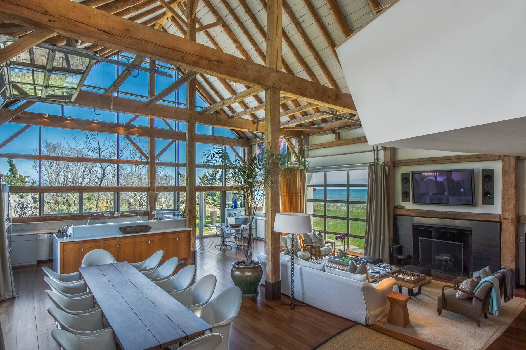 Single Family Homes for Sale at Private Oceanfront Retreat 135 Crestview Lane Sagaponack, New York 11962 United States