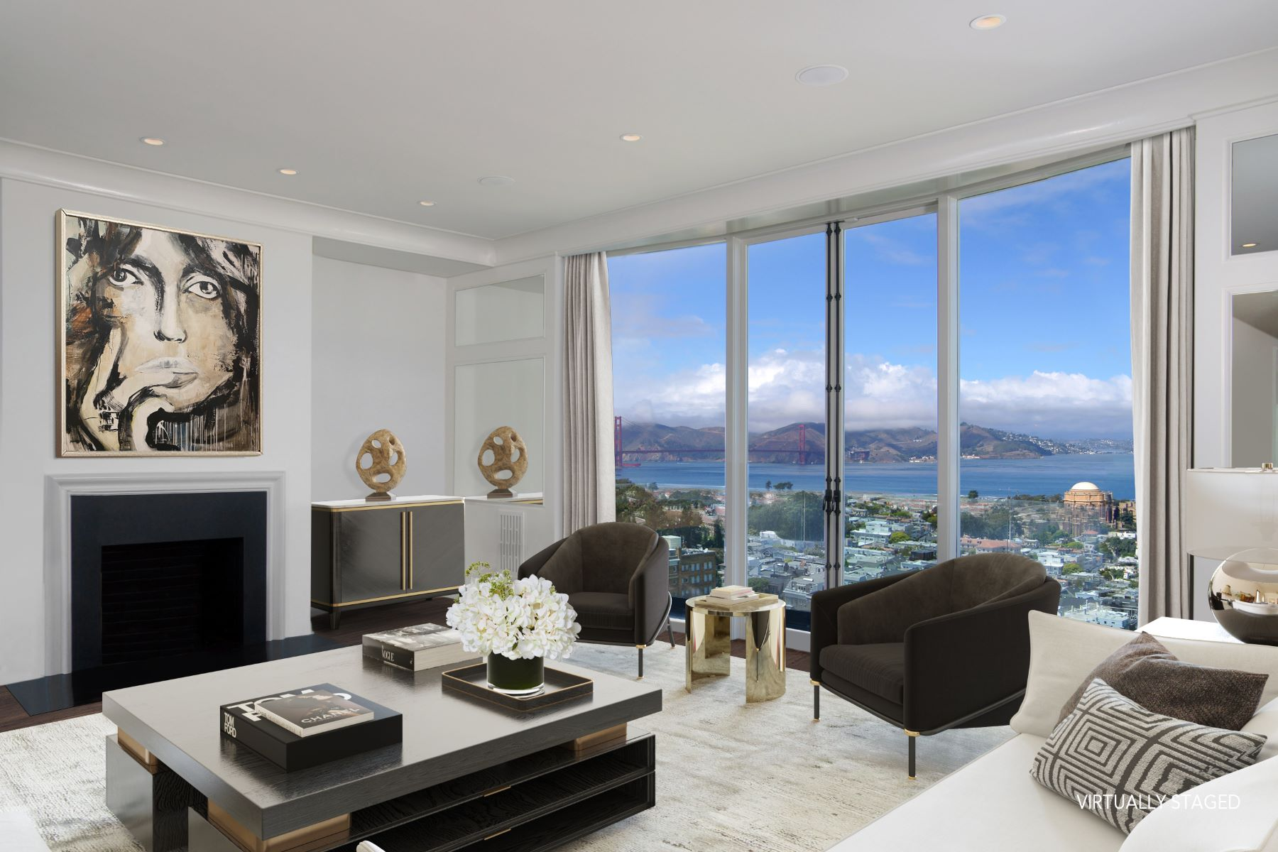 Single Family Homes for Sale at Elegant Gold Coast Residence 2780 Broadway St, San Francisco, California 94115 United States