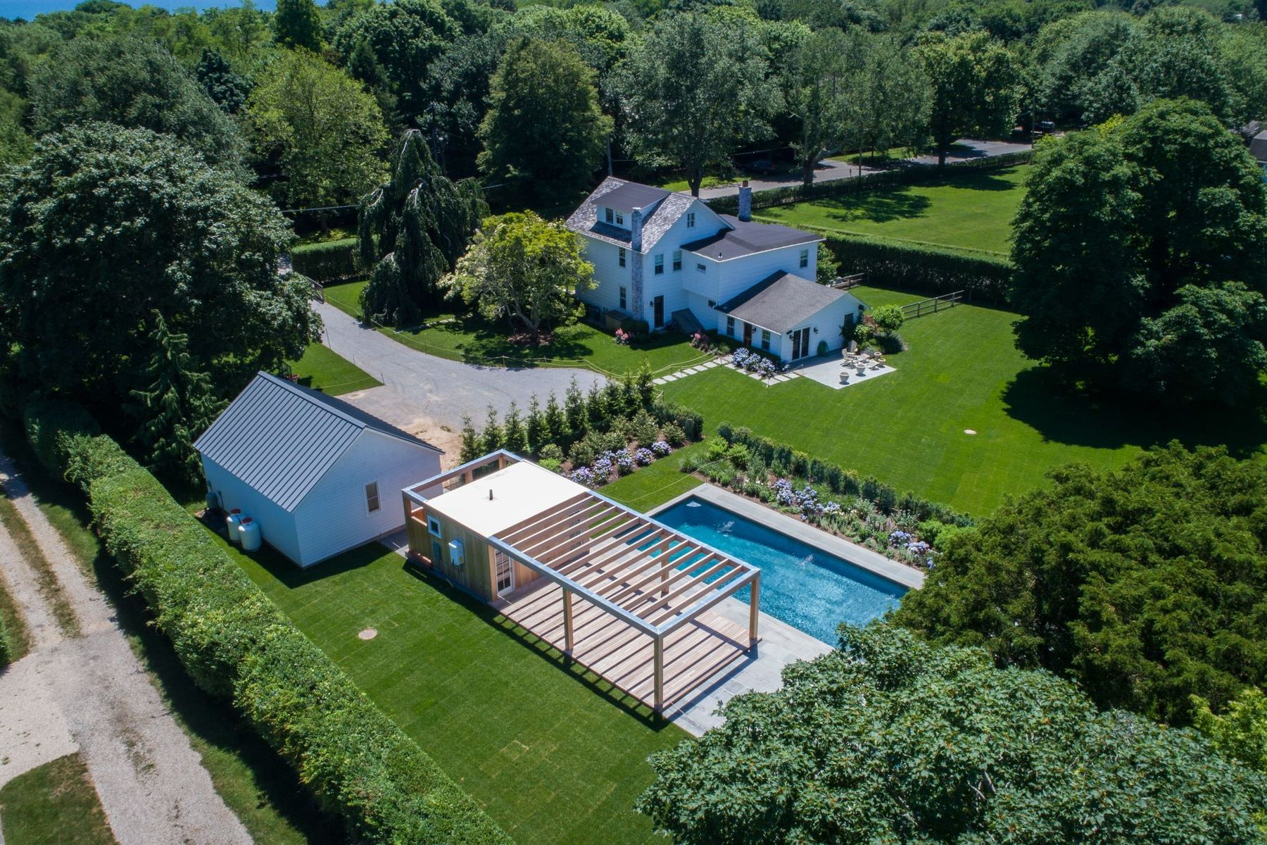 Single Family Homes for Sale at LANES FARMHOUSE ON 1.0+ ACRES 66 Old Montauk Highway Amagansett, New York 11930 United States