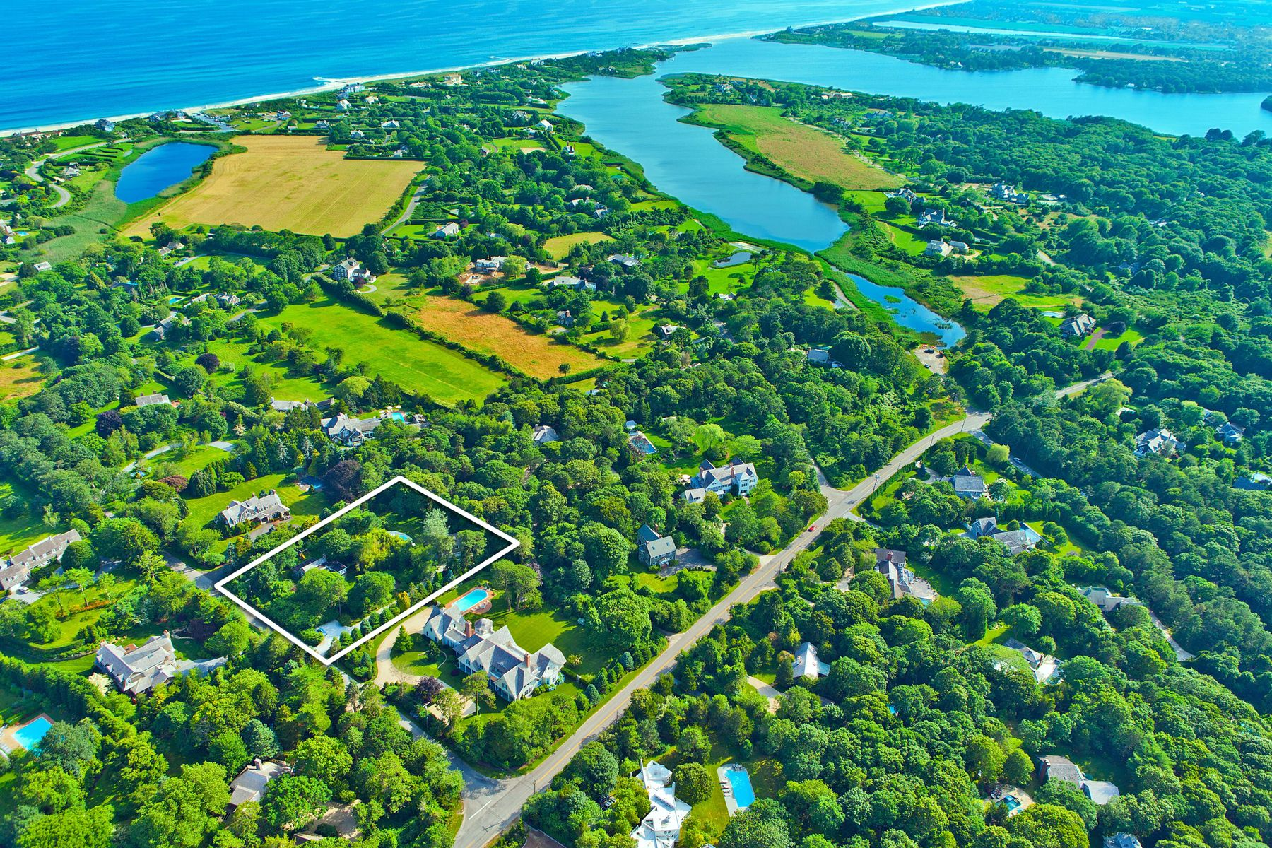 Single Family Home for Active at Georgica Beach At Your Door Step 10 Jericho Lane East Hampton, New York 11937 United States