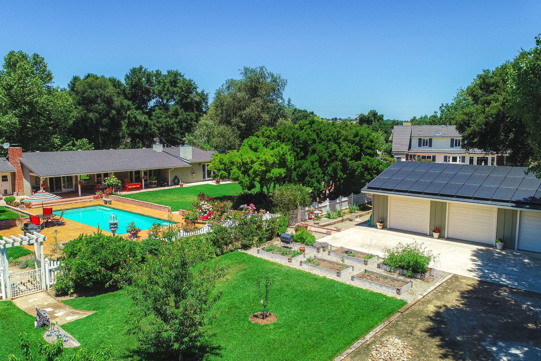 Single Family Homes for Sale at Sunrise Secret Garden 2305 Sunrise Way Solvang, California 93463 United States