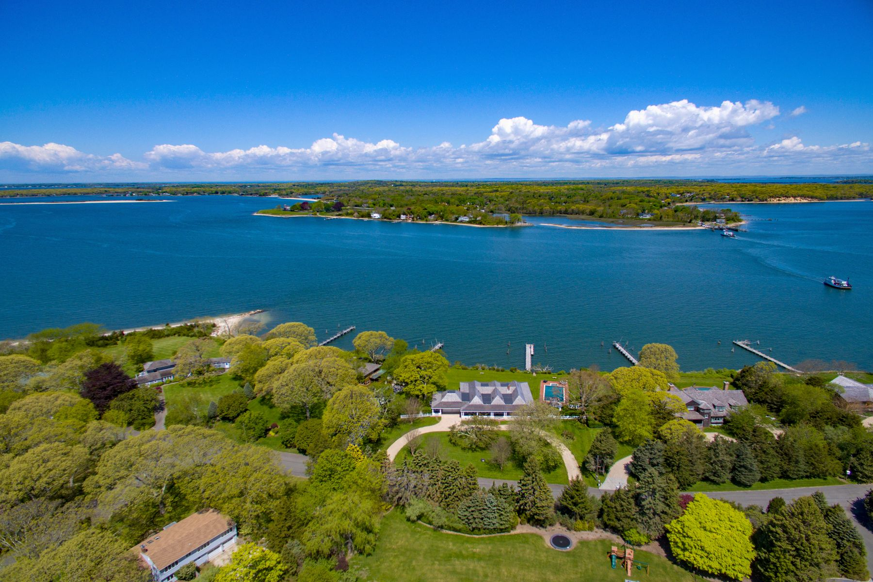 single family homes for Active at North Haven Bay Front With Dock 18 North Drive Sag Harbor, New York 11963 United States