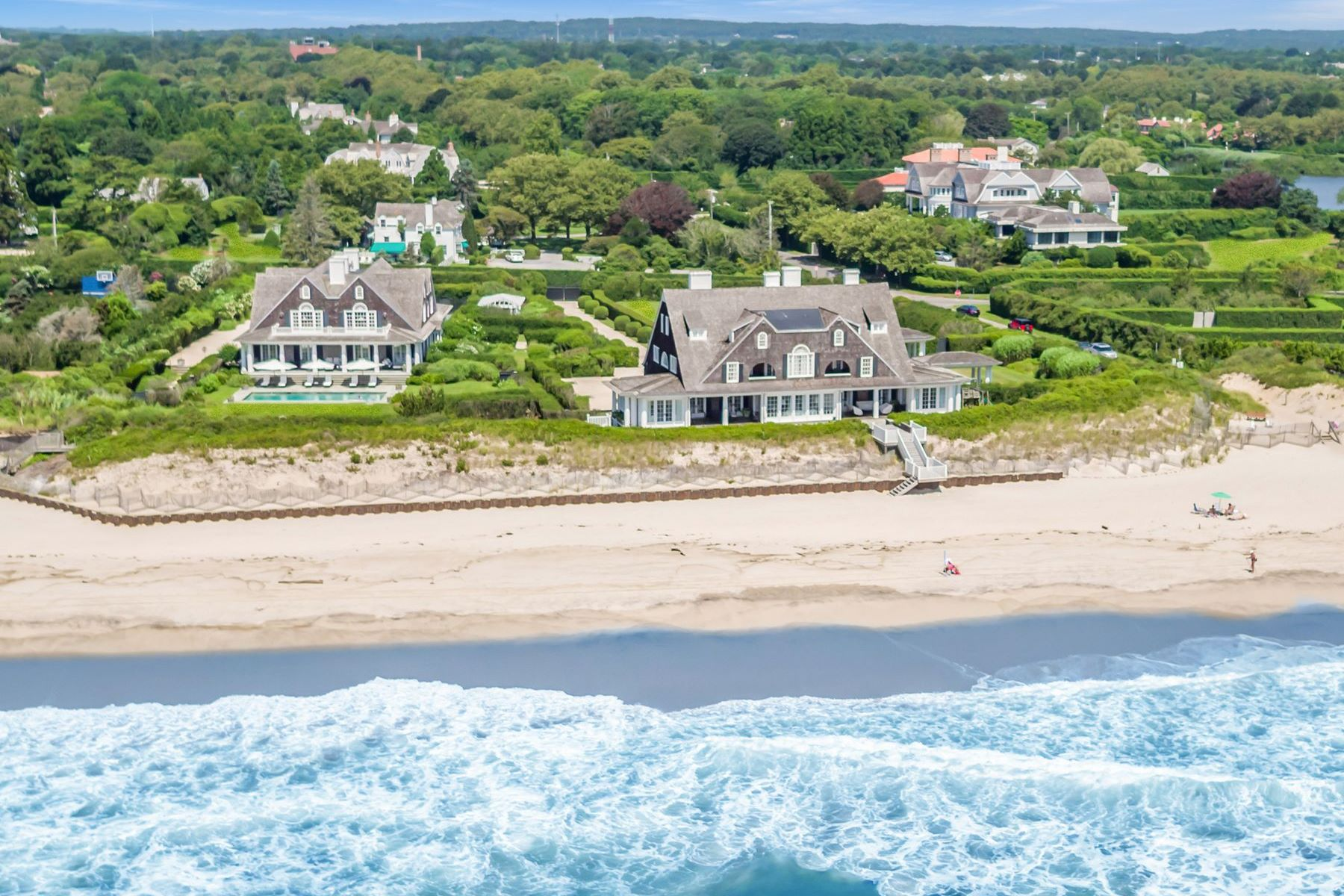 Single Family Homes for Sale at Historic Gin Lane Oceanfront 376 Gin Lane Southampton, New York 11968 United States