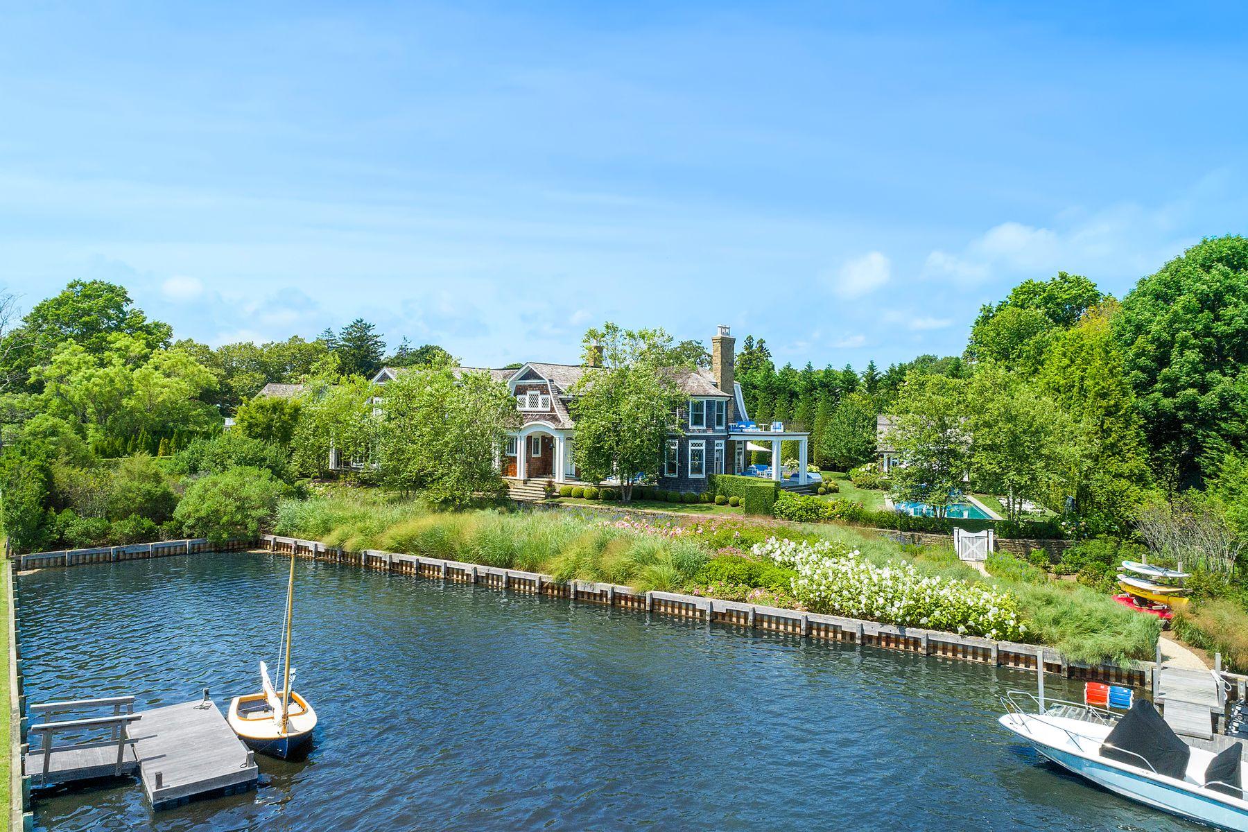 Single Family Homes für Verkauf beim Water Mill Waterfront 29 Cobb Isle Road, Water Mill, New York 11976 Vereinigte Staaten