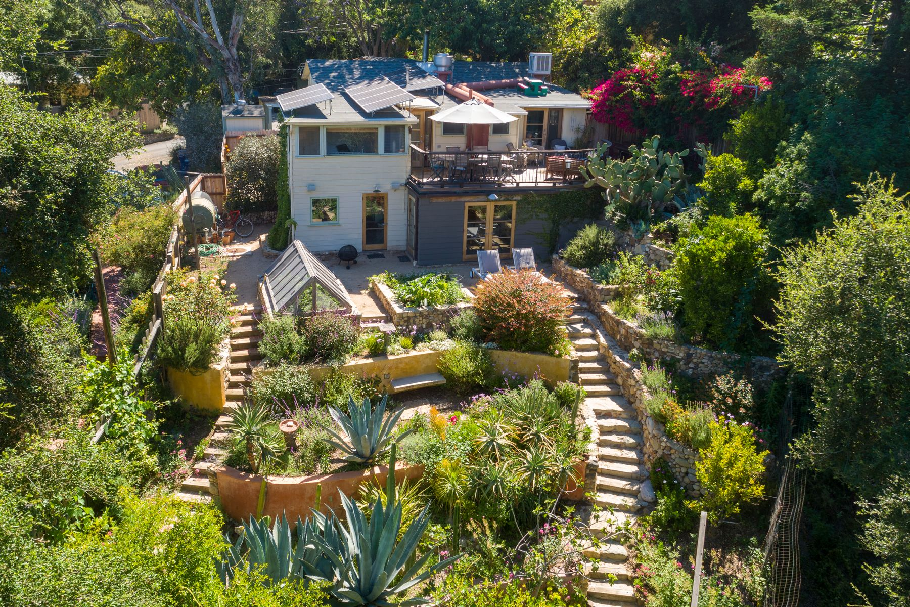 Single Family Homes for Sale at Terraced Gardens and Cross Canyon views 816 Basin Drive Topanga, California 90290 United States