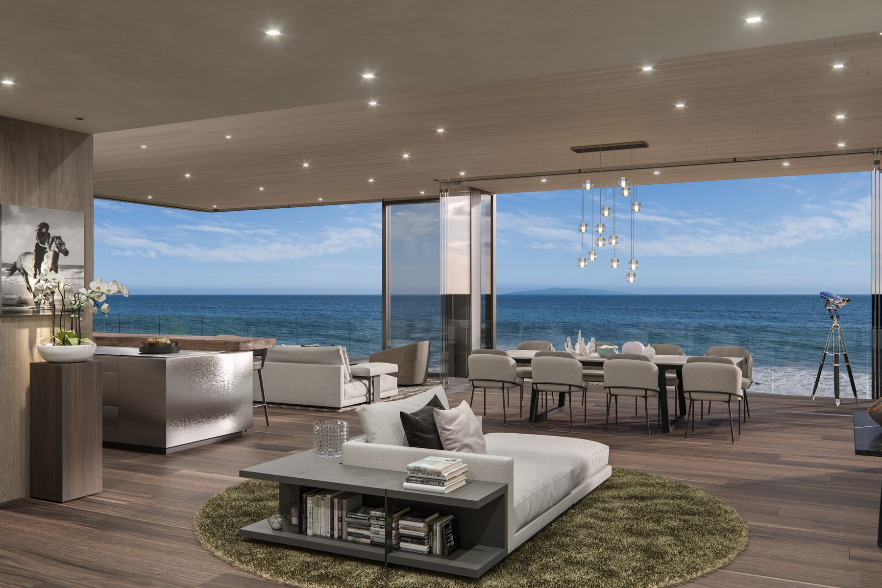 Single Family Homes for Sale at Brand New Malibu Oceanfront 24300 Malibu Road Malibu, California 90265 United States