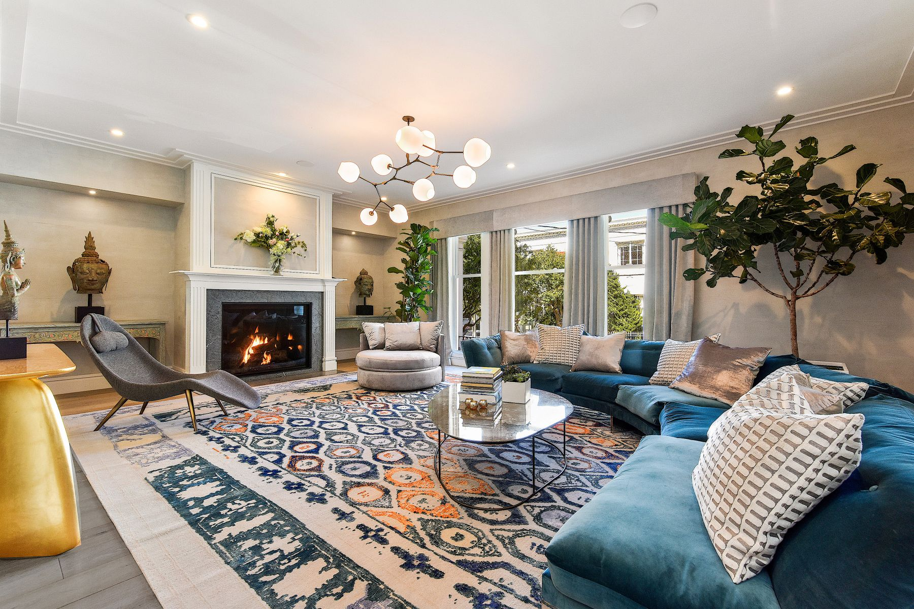 Single Family Homes for Sale at Neo-Classical Pacific Heights Residence 2555 Webster St San Francisco, California 94115 United States