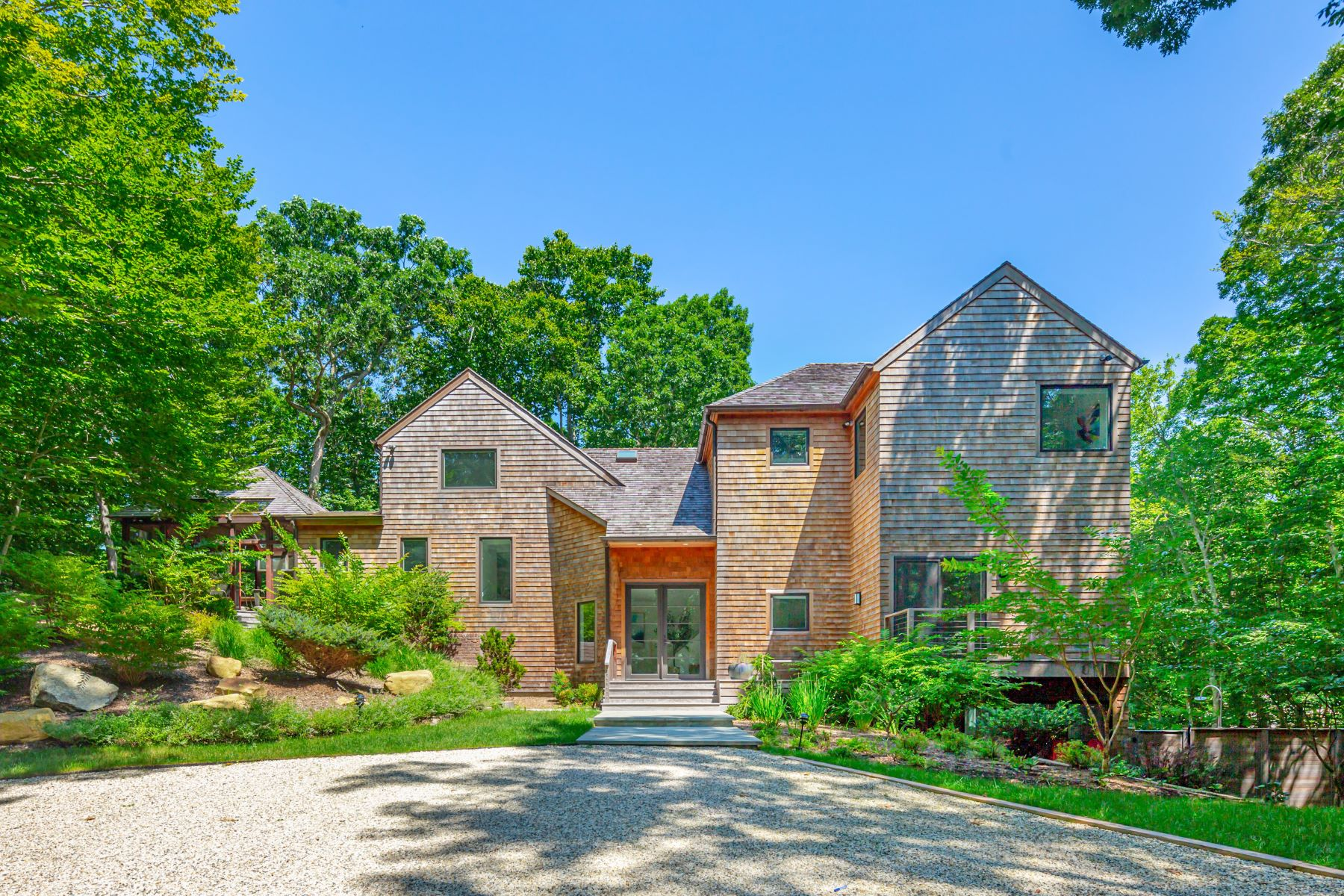 Single Family Homes for Sale at Stylish Home With Lots Of Privacy 5 Bell Place Amagansett, New York 11930 United States