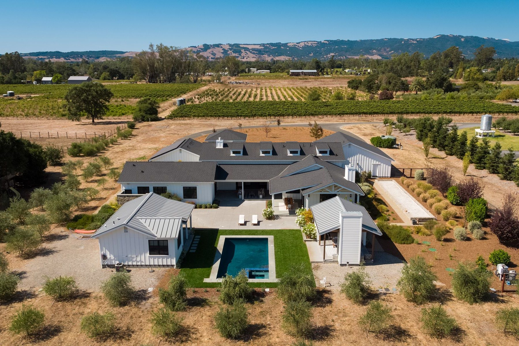 Single Family Homes for Sale at Modern Sonoma Farmhouse - 5± Acres 20376 Wolf Meadow Ln Sonoma, California 95476 United States