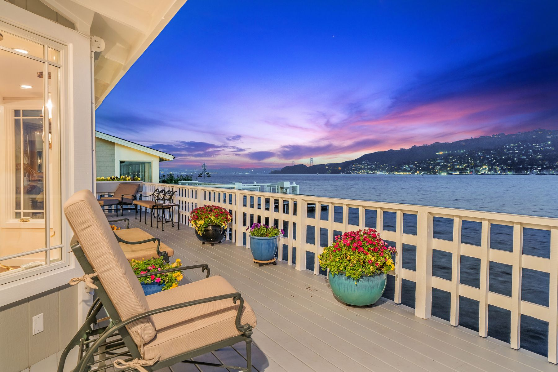 Single Family Homes for Sale at Remodeled Belvedere Bay-Front View Home 87 W Shore Rd Belvedere, California 94920 United States