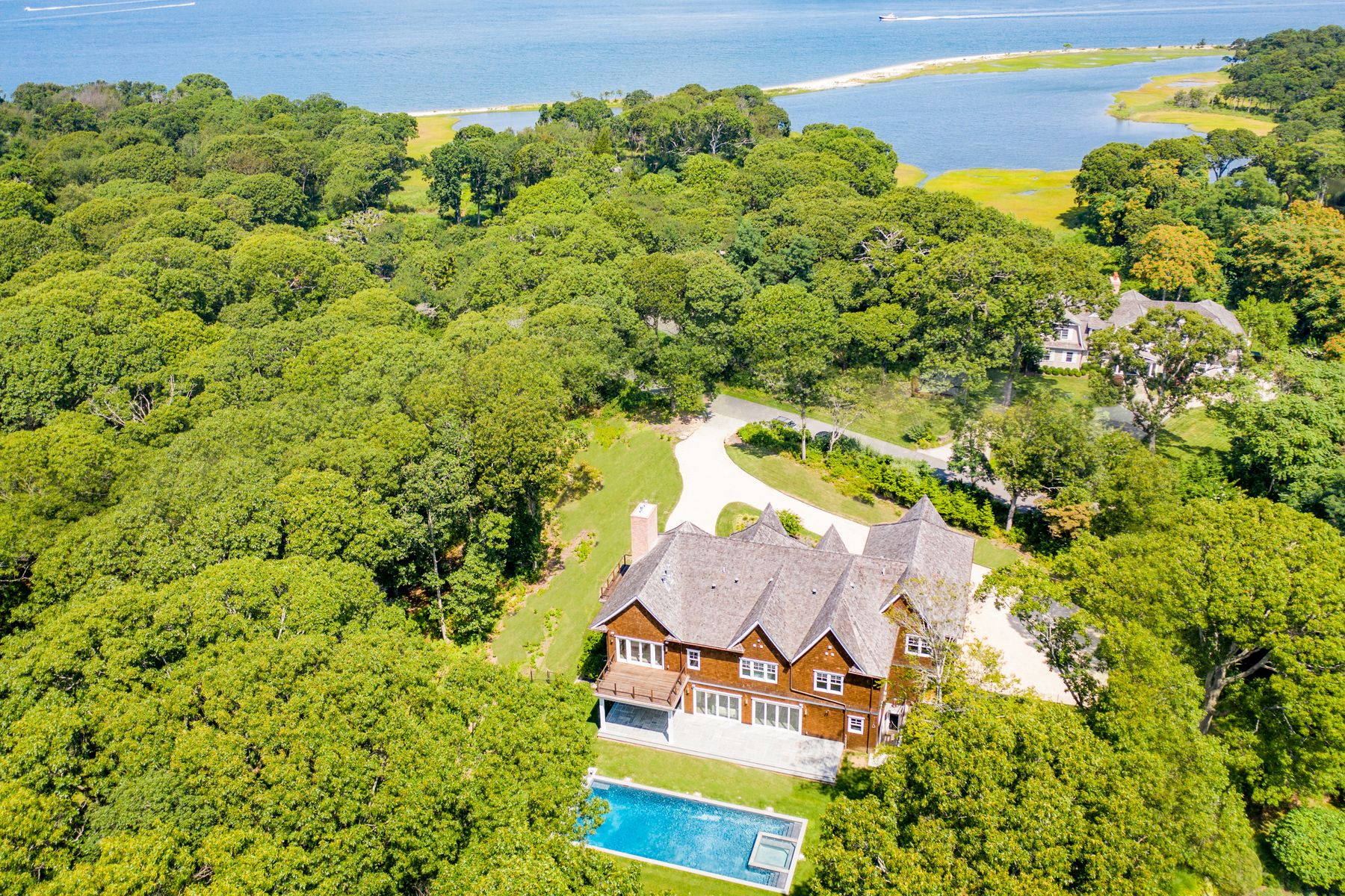 Single Family Homes for Sale at New Construction Across From Bay 9 Seaponack Drive Sag Harbor, New York 11963 United States
