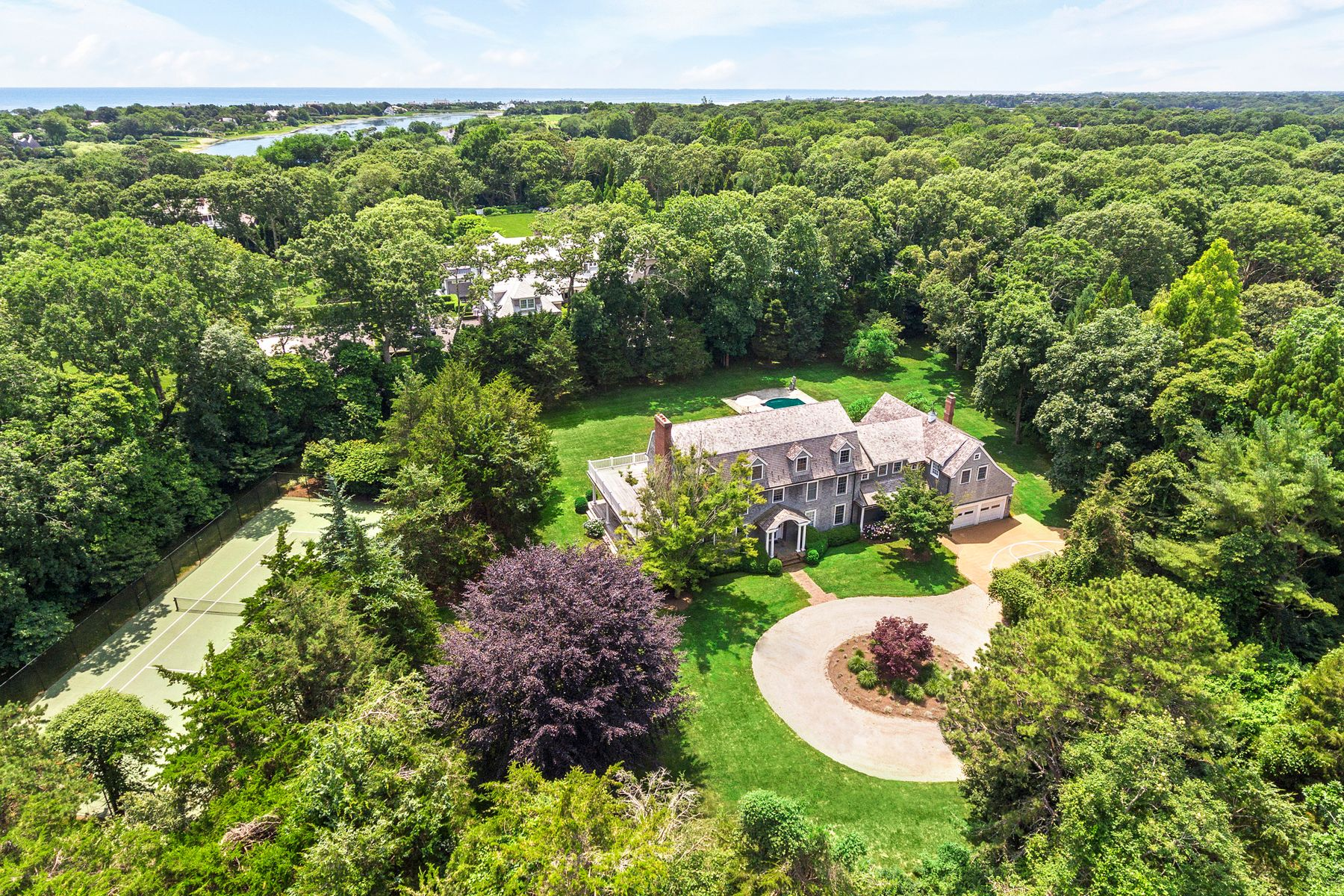 Single Family Homes for Sale at EAST HAMPTON 2.3 ACRES WITH TENNIS NEAR 24 Jericho Close East Hampton, New York 11937 United States