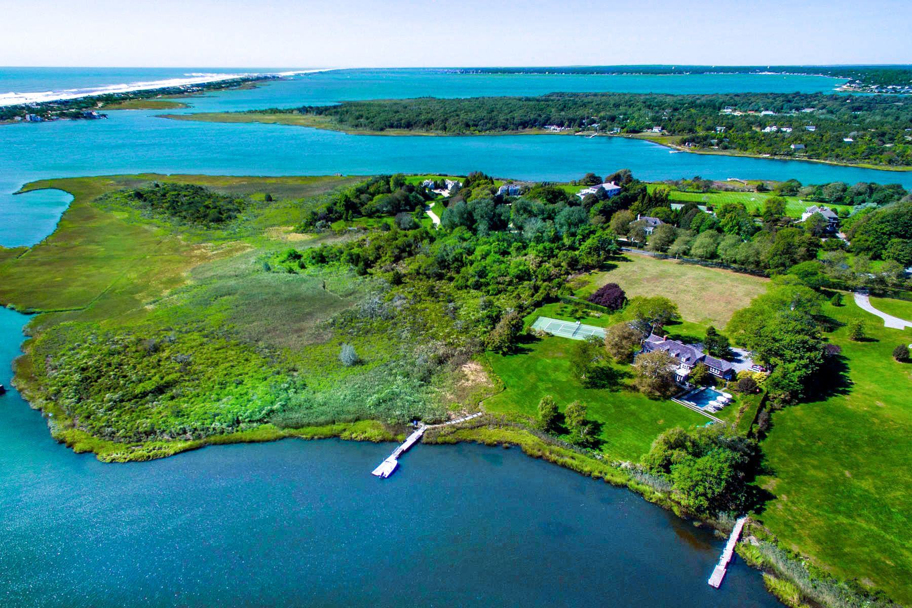 Single Family Homes for Sale at Captains Neck Waterfront Estate W/ Dock 520 Captains Neck Lane Southampton, New York 11968 United States